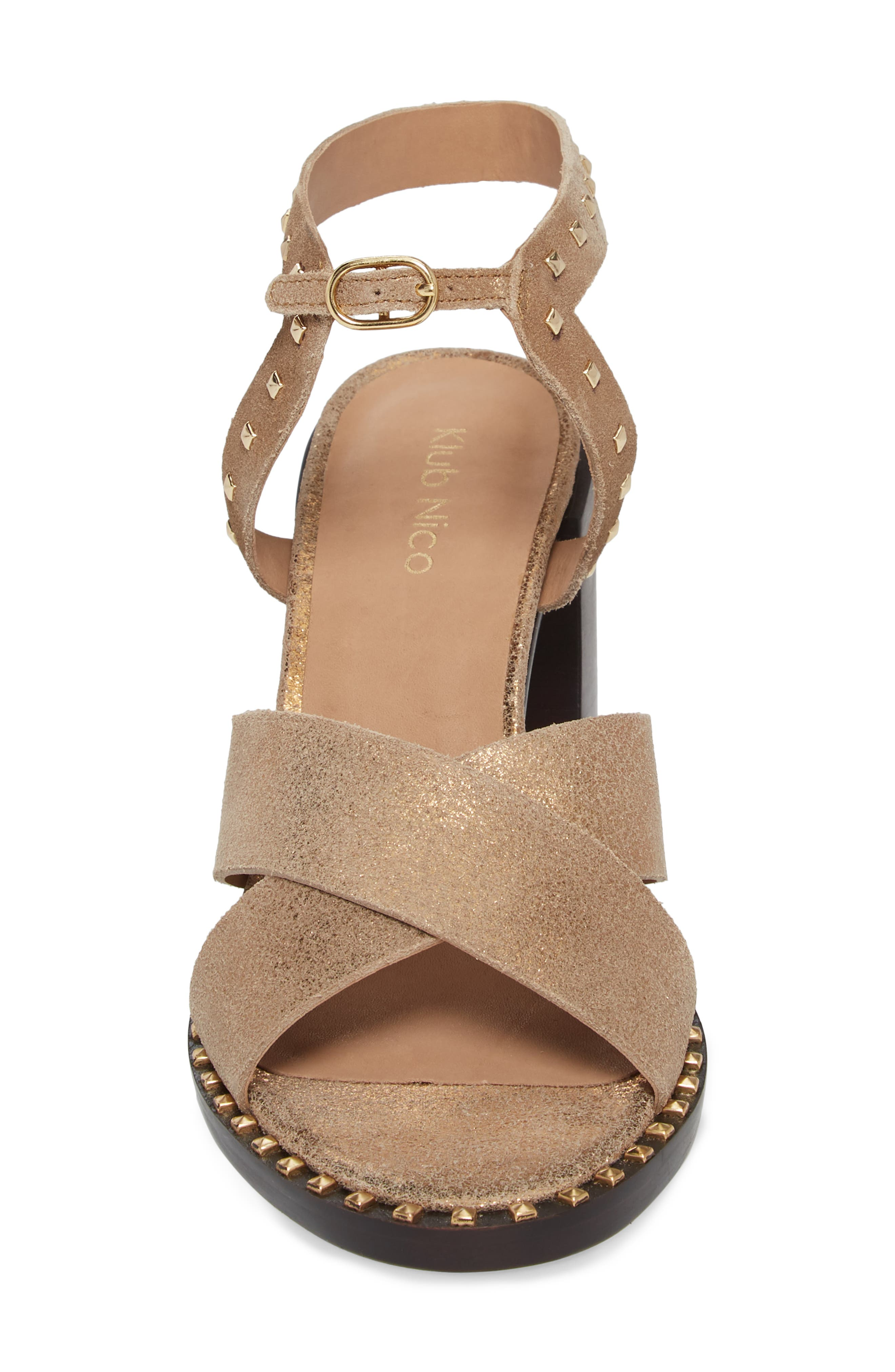 Tabia Sandal,                             Alternate thumbnail 4, color,                             Bronze Suede
