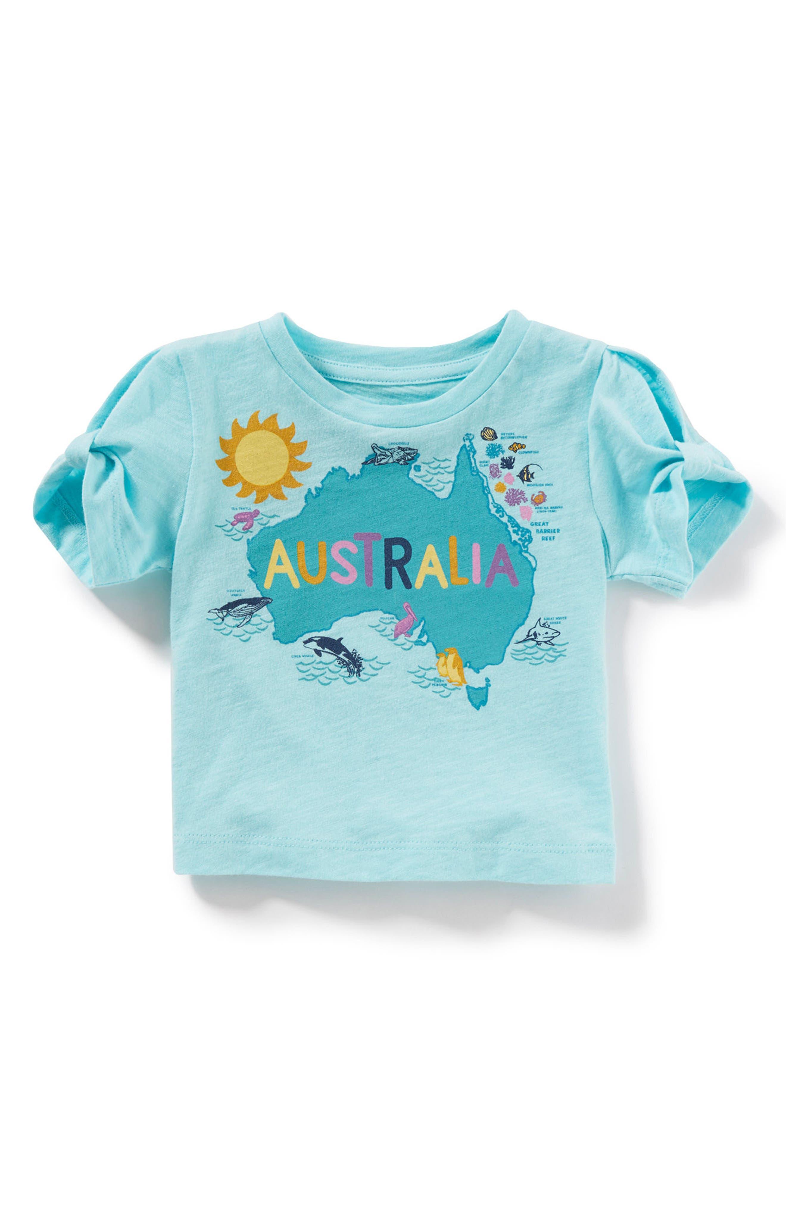 Australia Tee,                             Main thumbnail 1, color,                             Aqua