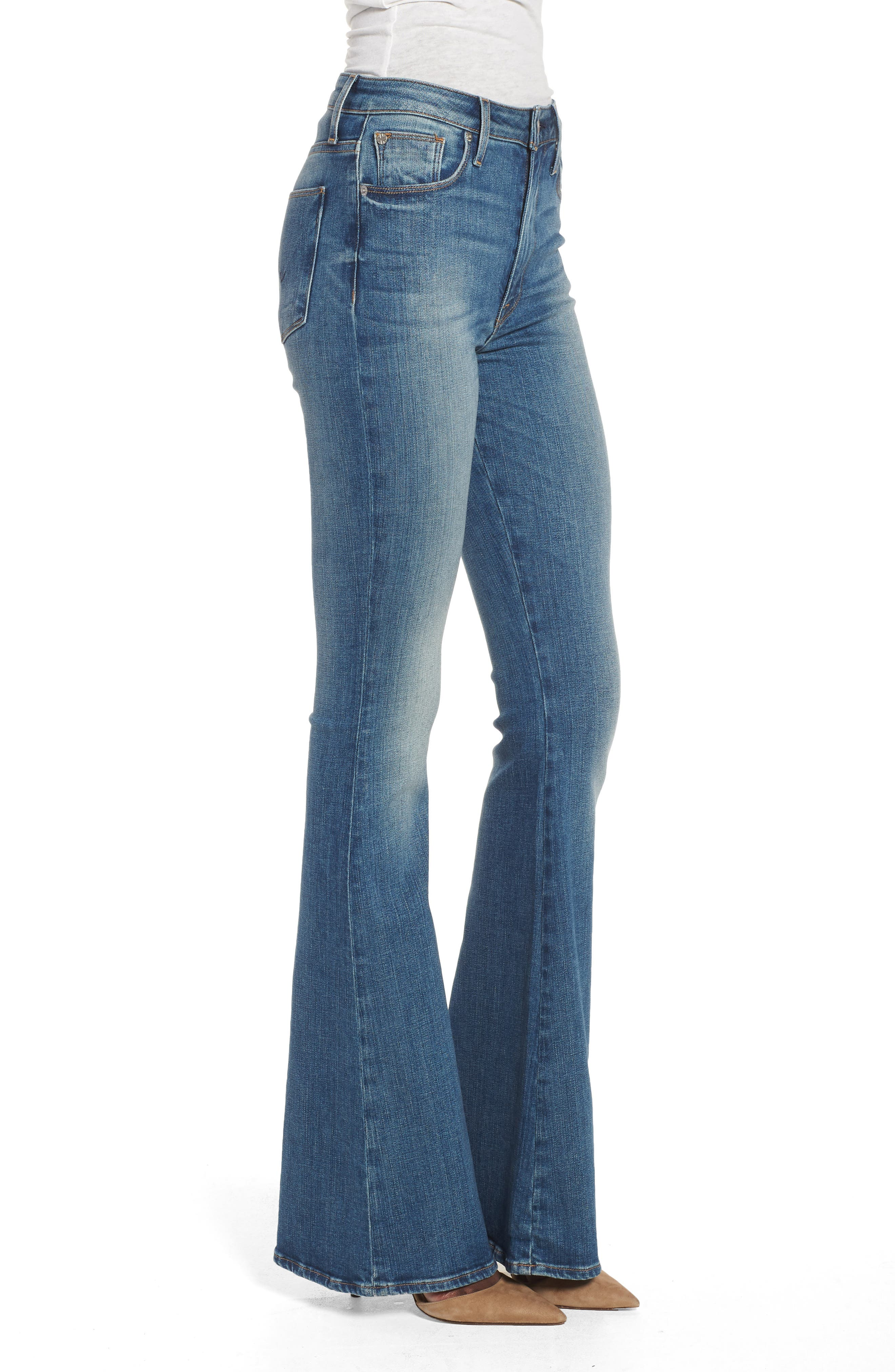 Holly High Waist Flare Jeans,                             Alternate thumbnail 2, color,                             First Date