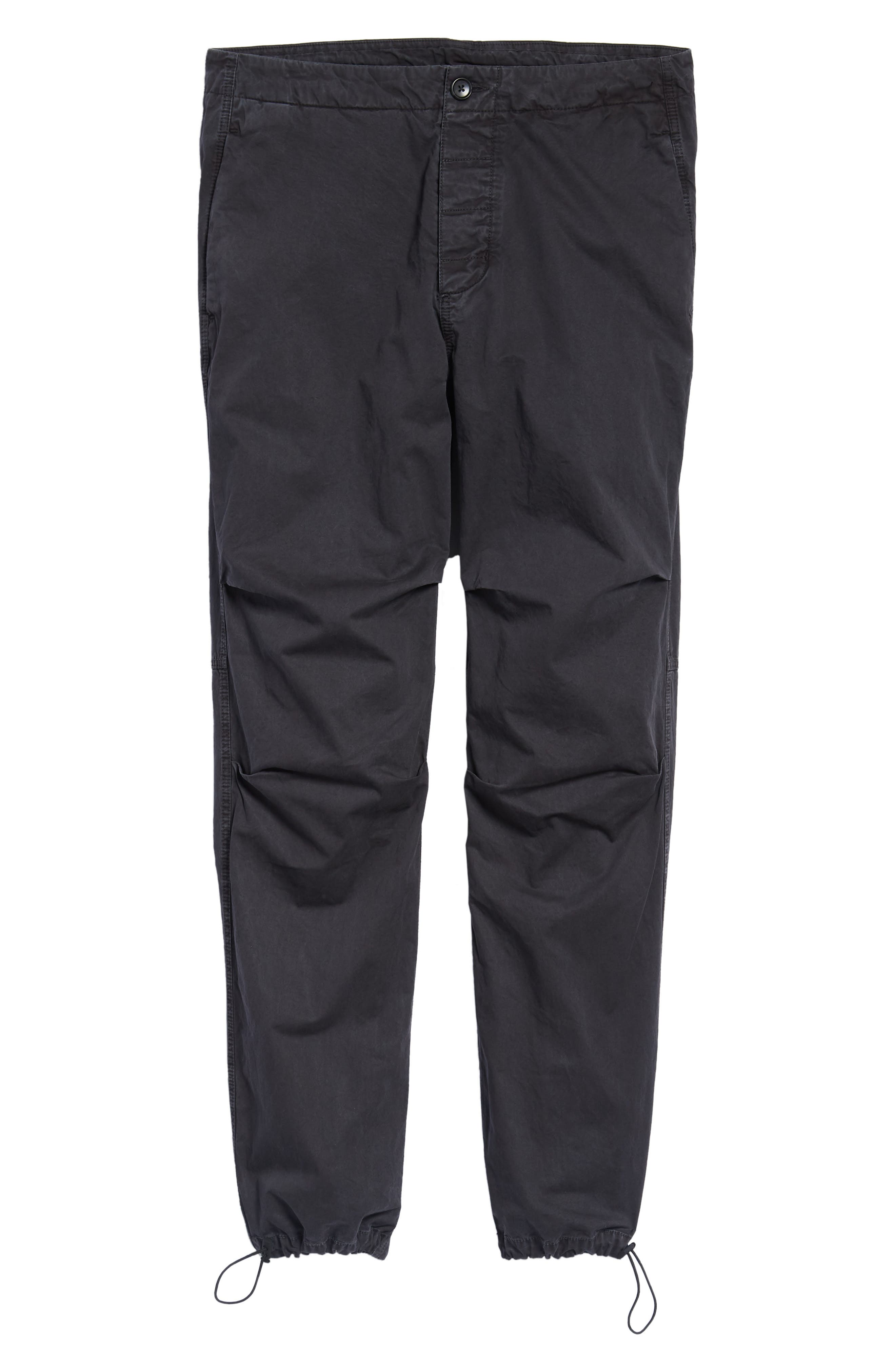 Relaxed Fit Cotton Twill Pants,                             Alternate thumbnail 6, color,                             Grey