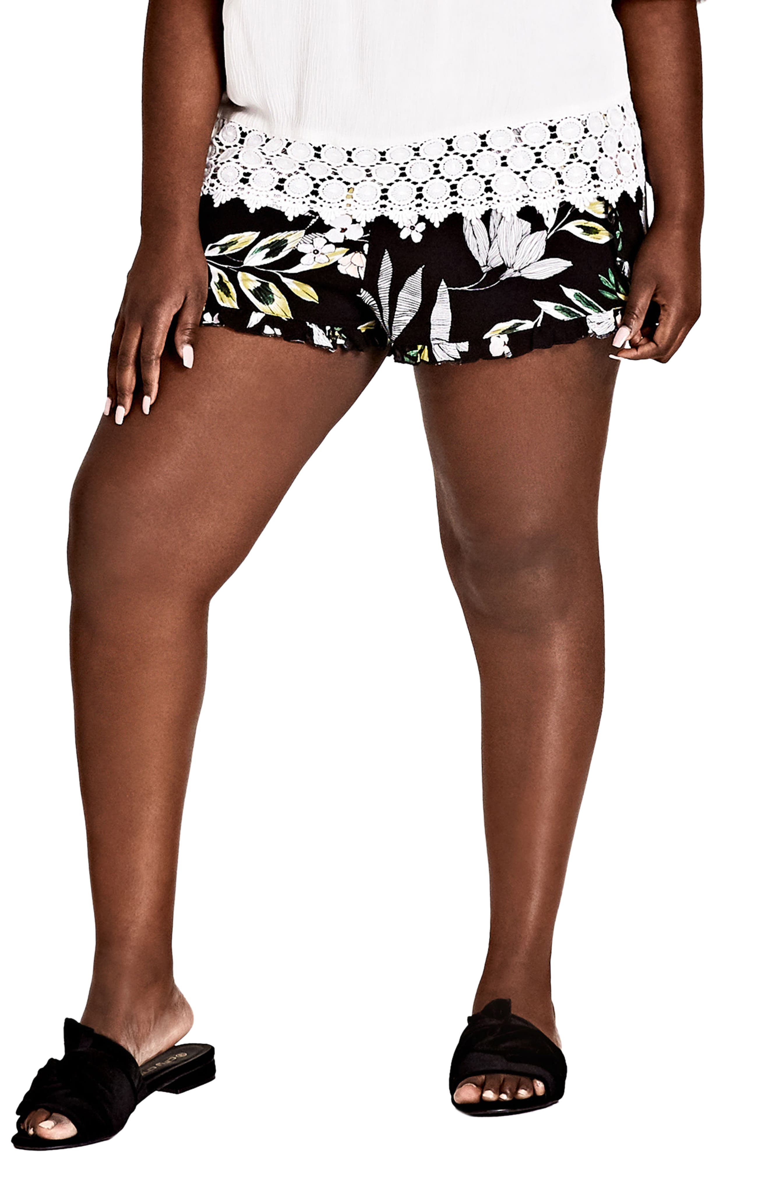 Maui Floral Pull-On Shorts,                         Main,                         color, Maui Floral