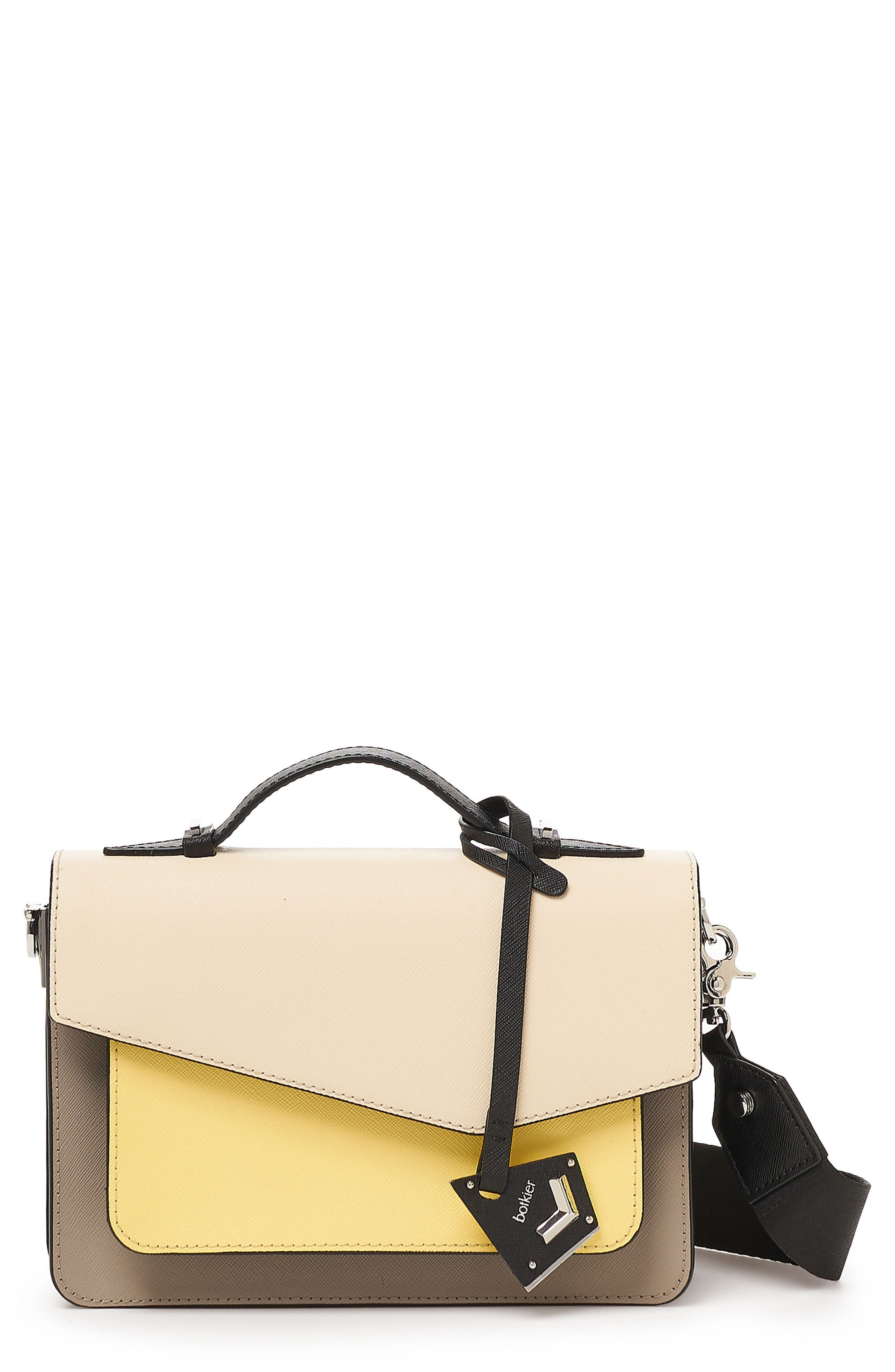 COBBLE HILL LEATHER CROSSBODY BAG - WHITE