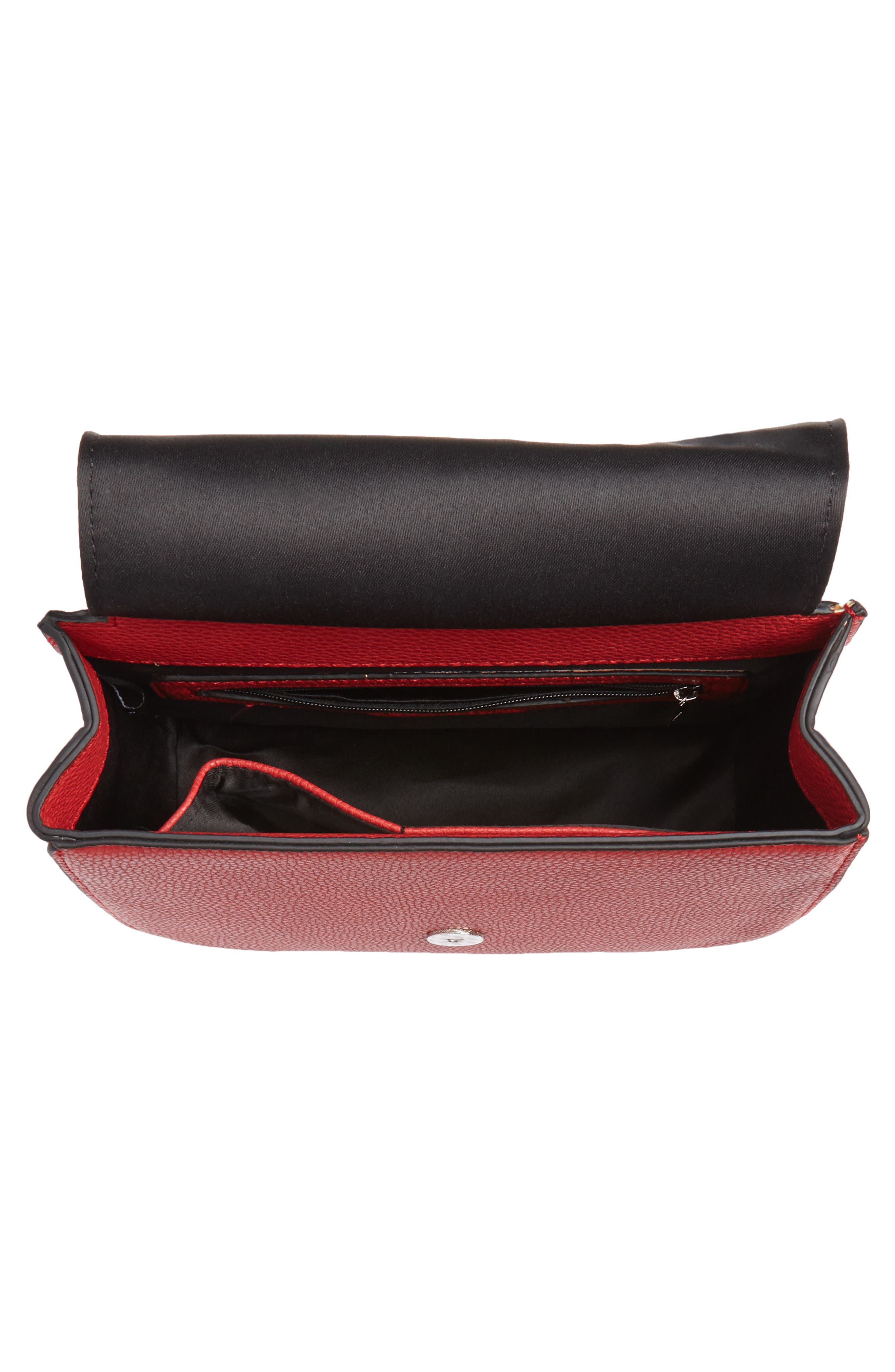 Mini Laine Fringe Crossbody Bag,                             Alternate thumbnail 4, color,                             Red