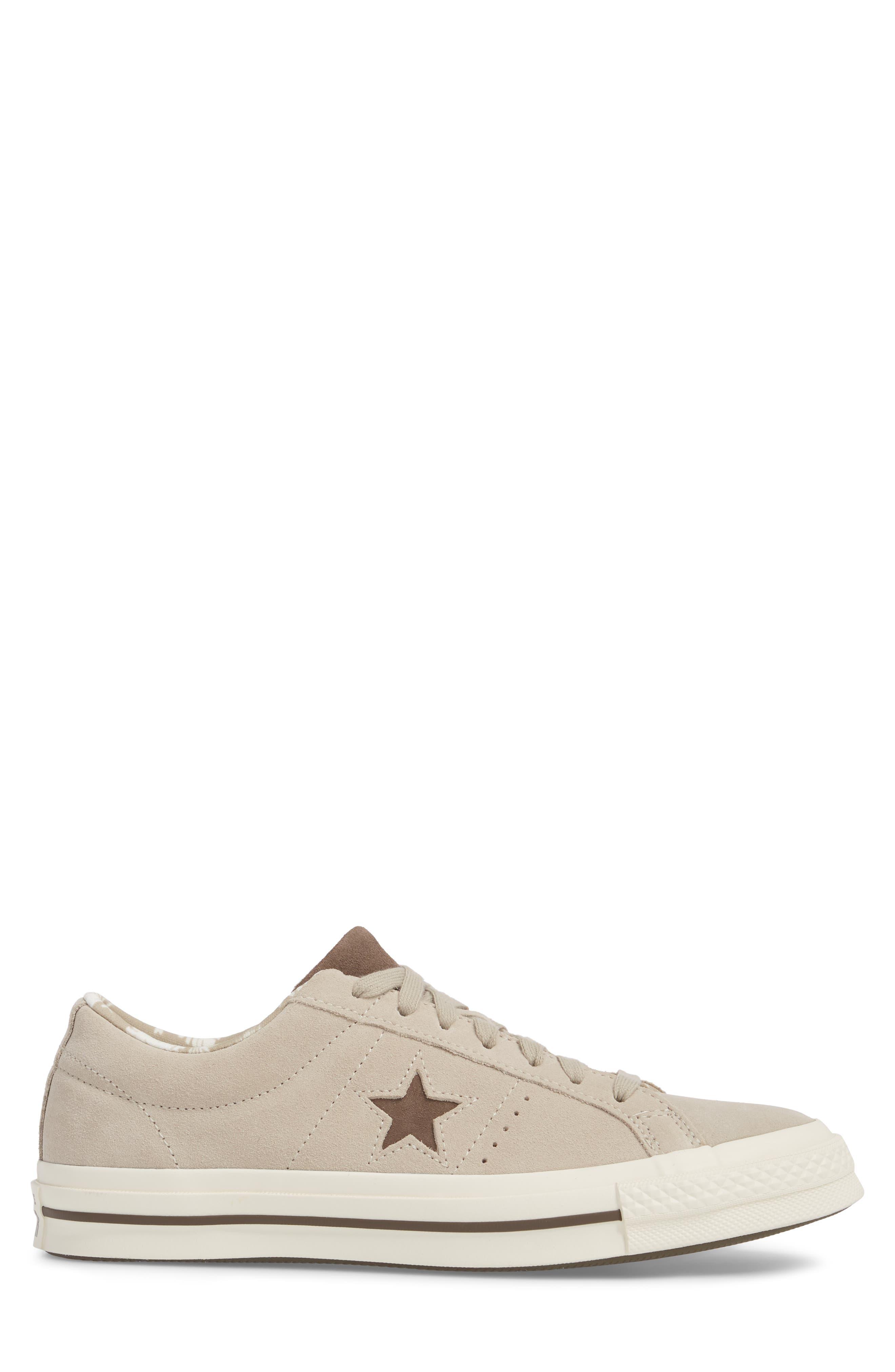 One-Star Tropical Sneaker,                             Alternate thumbnail 3, color,                             Khaki Suede