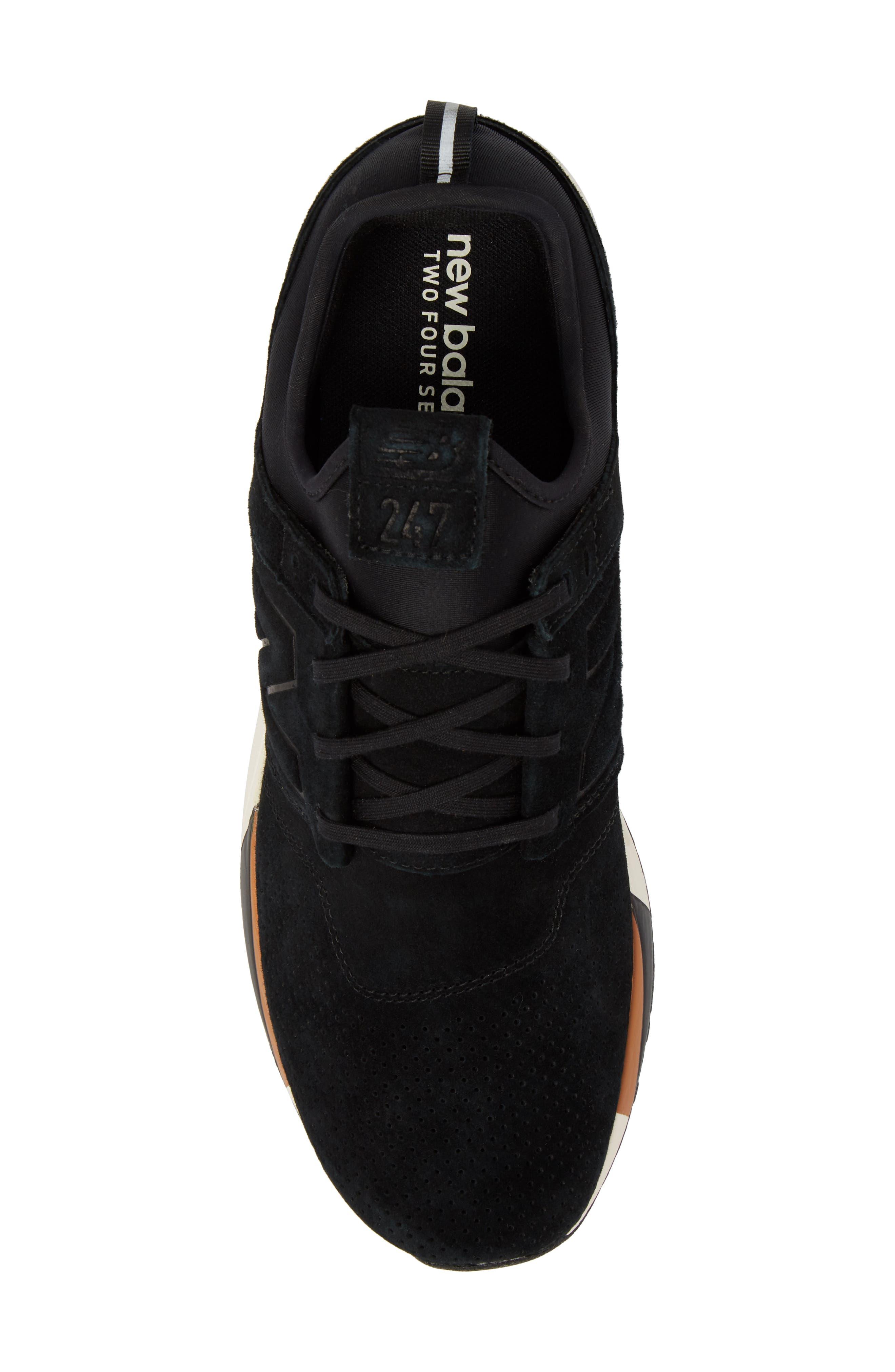 247 Luxe Sneaker,                             Alternate thumbnail 5, color,                             Black