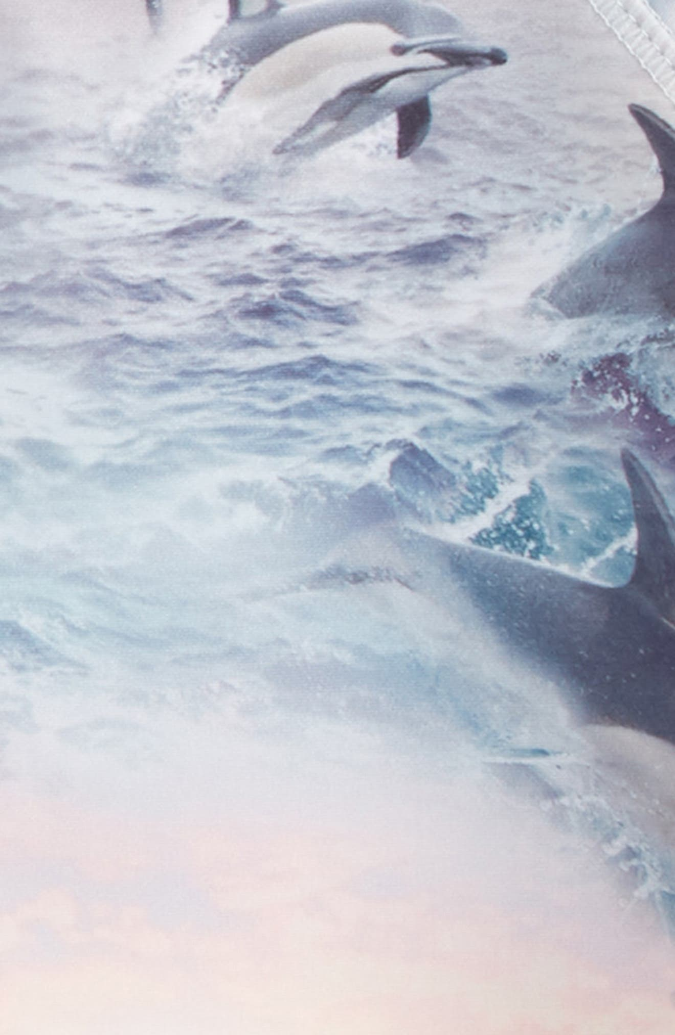 Neptune Short Sleeve Rashguard,                             Alternate thumbnail 2, color,                             Dolphins Sunset