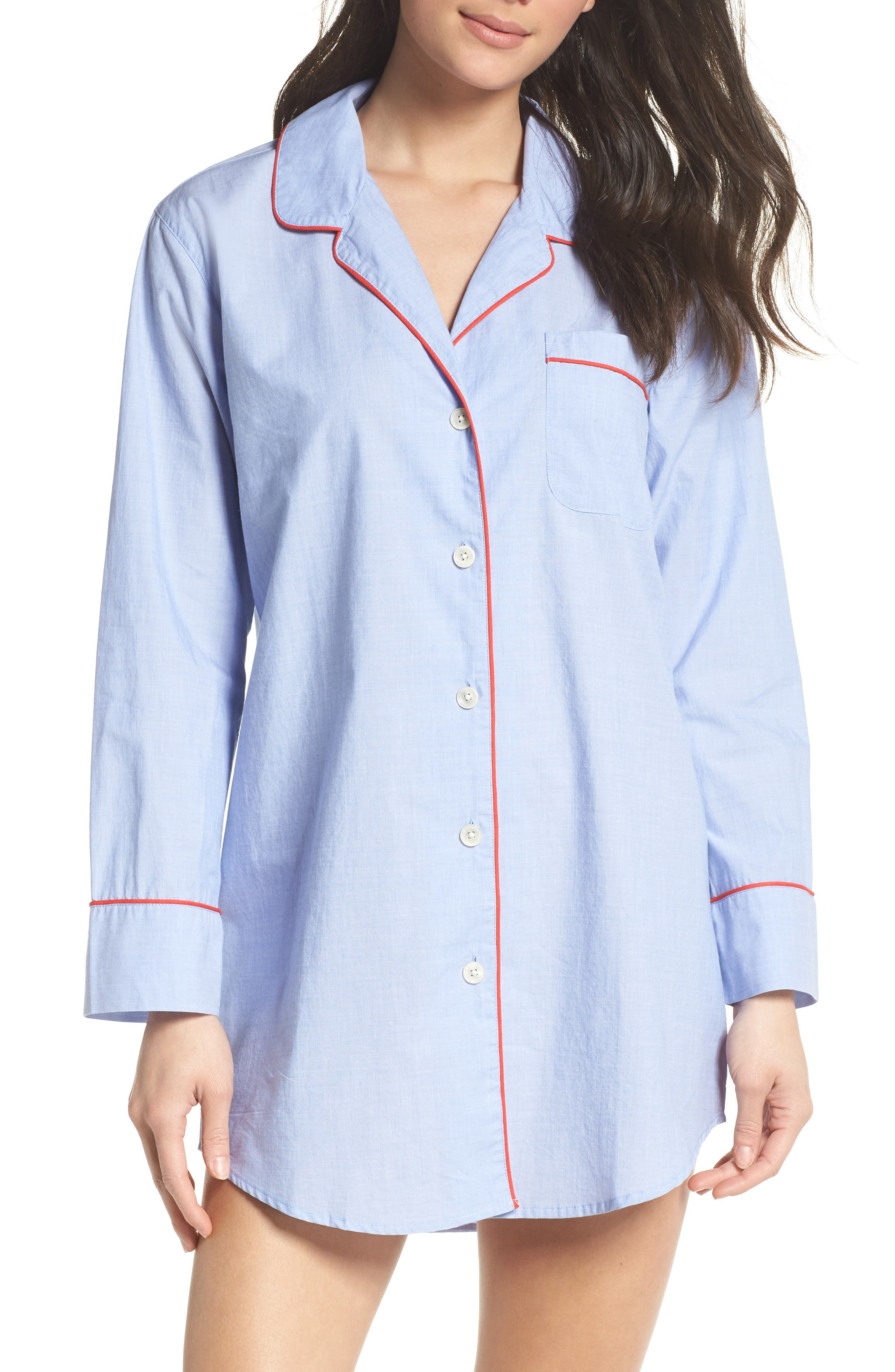 Alternate Image 1 Selected - J.Crew Woven Nightshirt