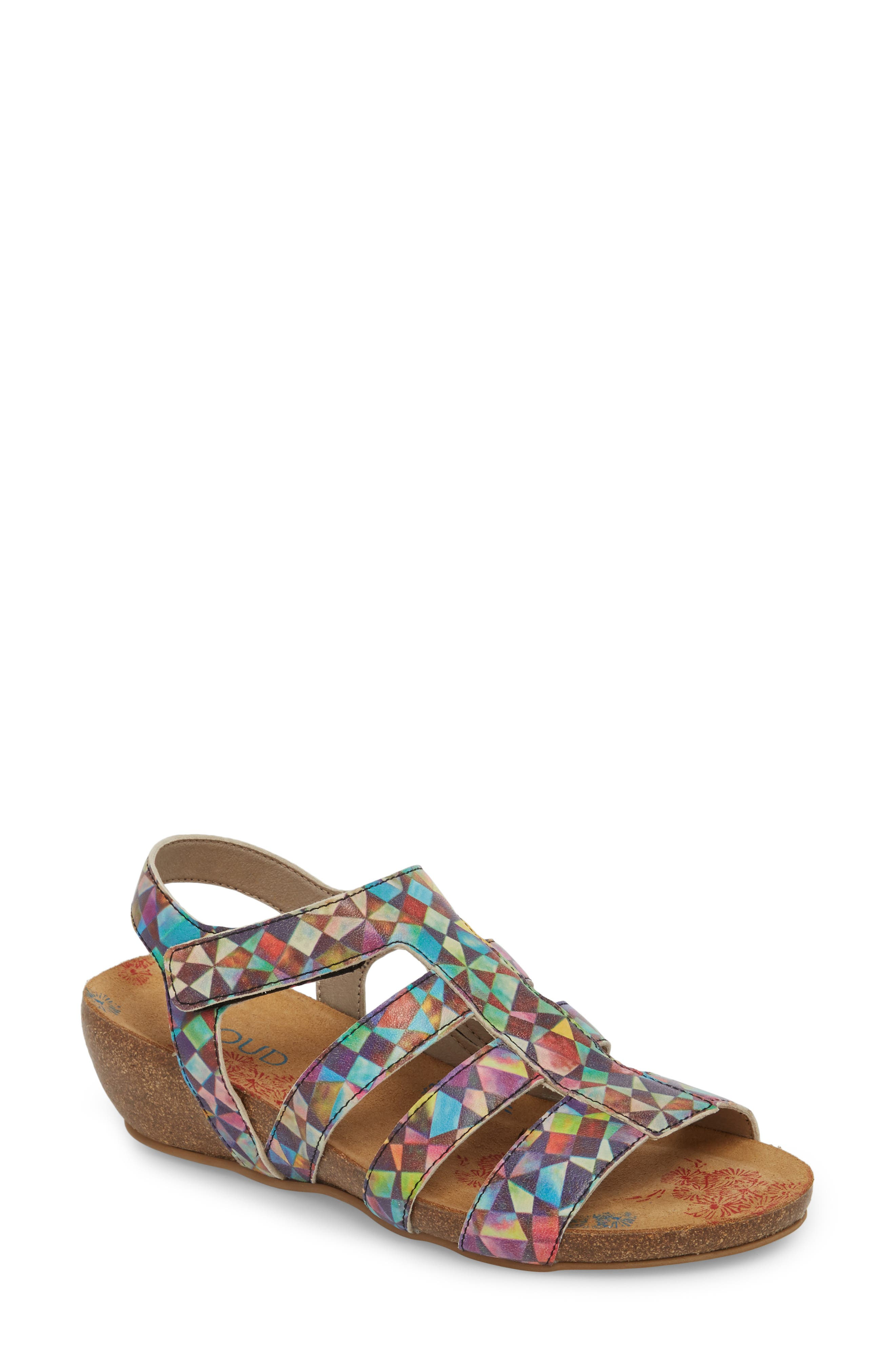 Delta Wedge Sandal,                             Main thumbnail 1, color,                             Mystere Leather