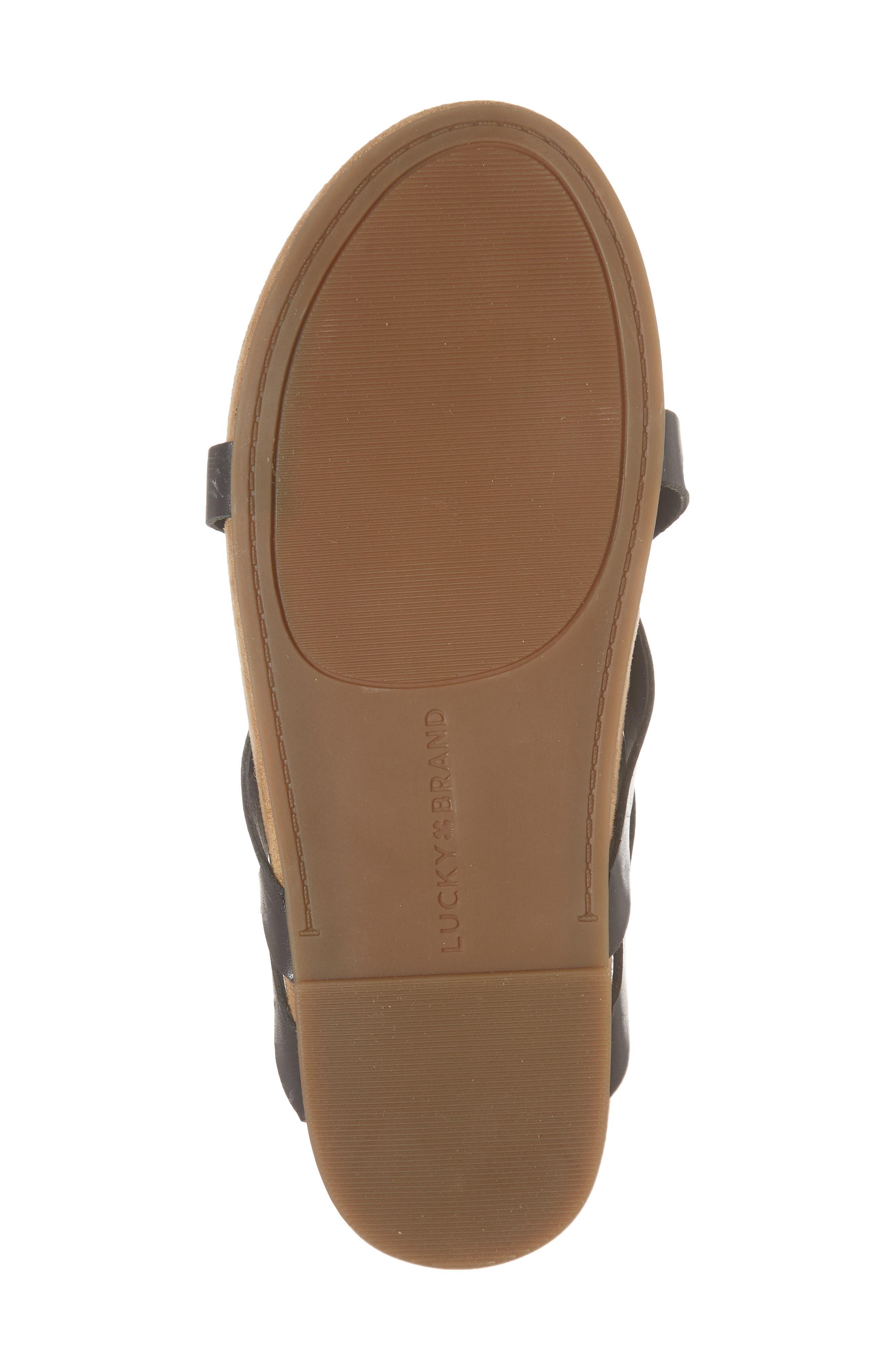 Fillima Flip Flop,                             Alternate thumbnail 6, color,                             Black Leather