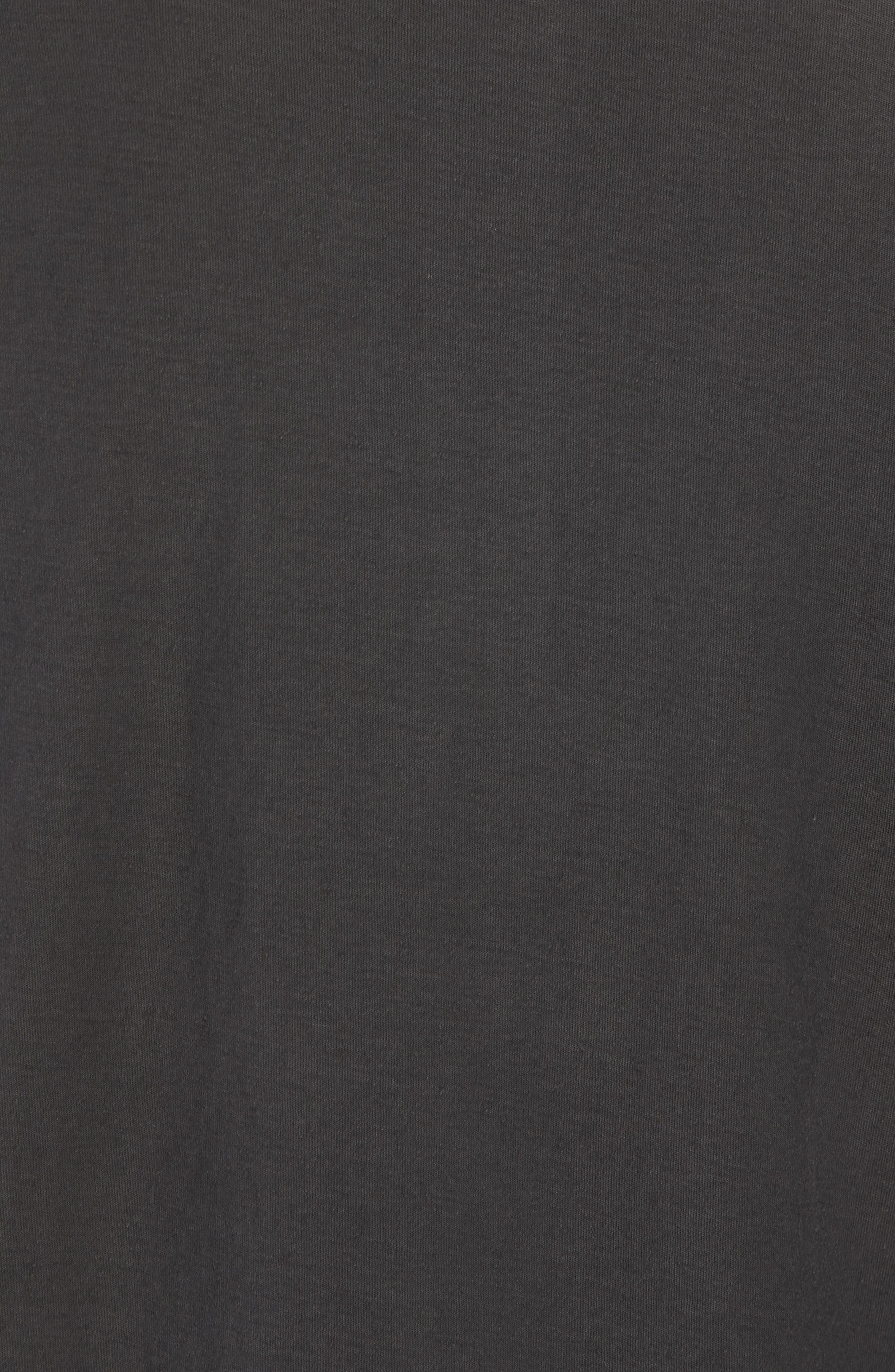 Short Sleeve Cotton Henley,                             Alternate thumbnail 5, color,                             Black