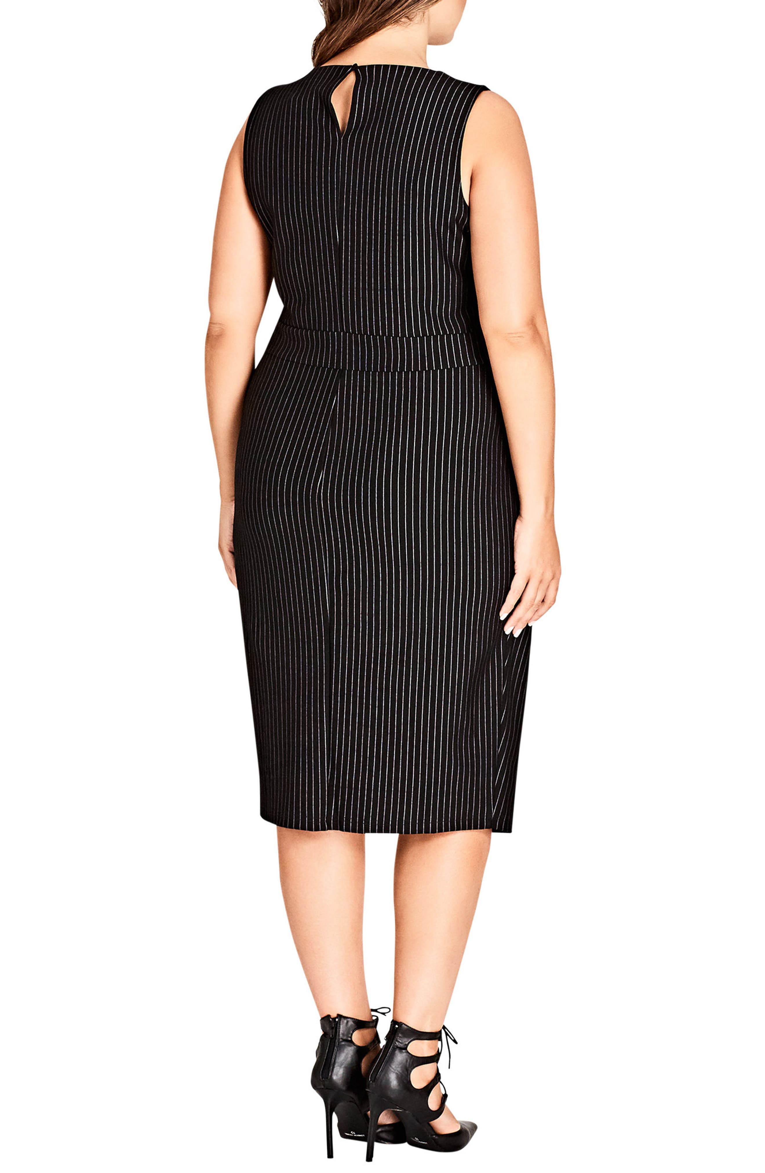 Aster Stripe Sheath Dress,                             Alternate thumbnail 2, color,                             Pin Stripe