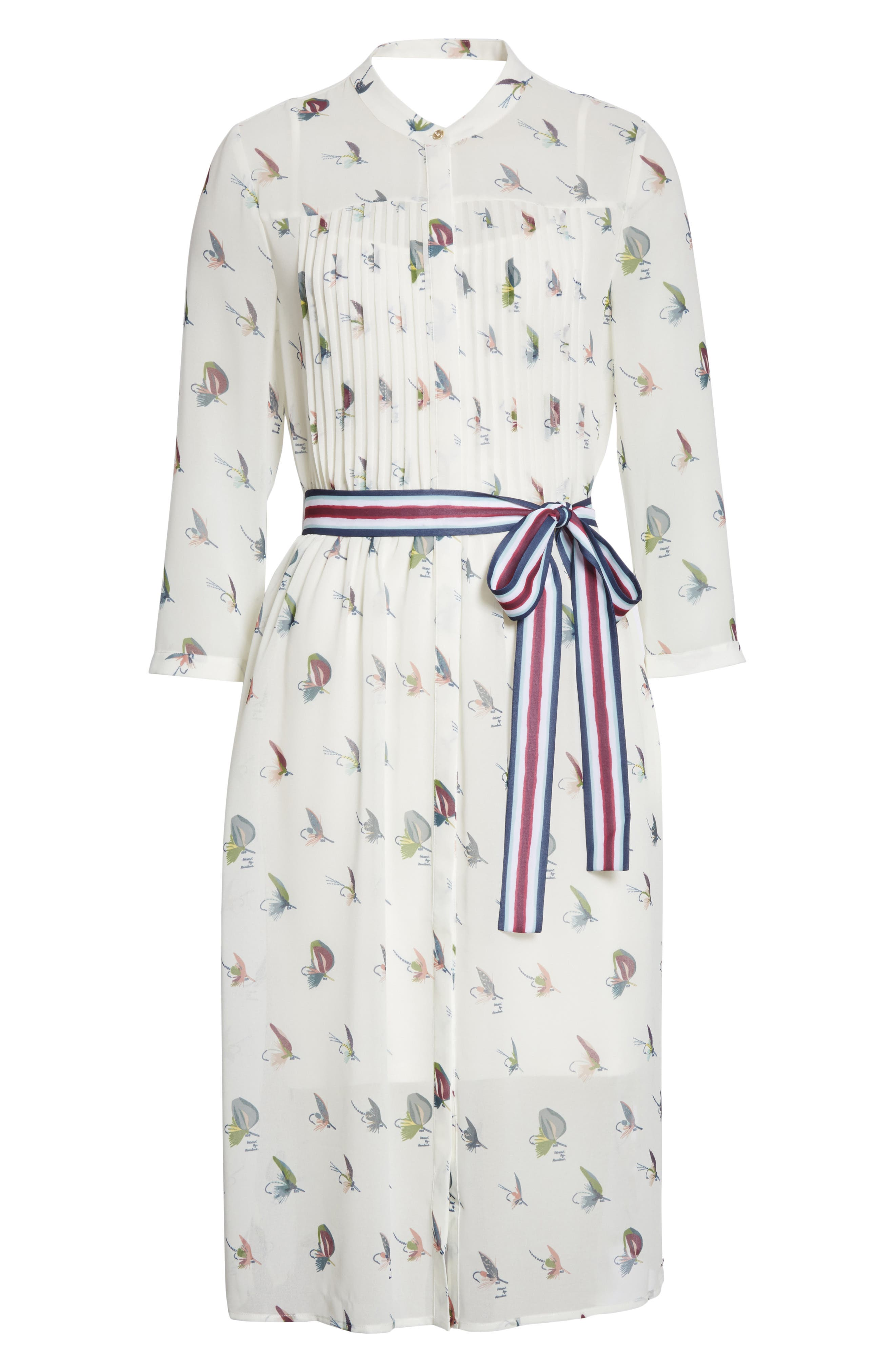 Colour by Numbers Zenaa Print Shirtdress,                             Alternate thumbnail 6, color,                             Ivory