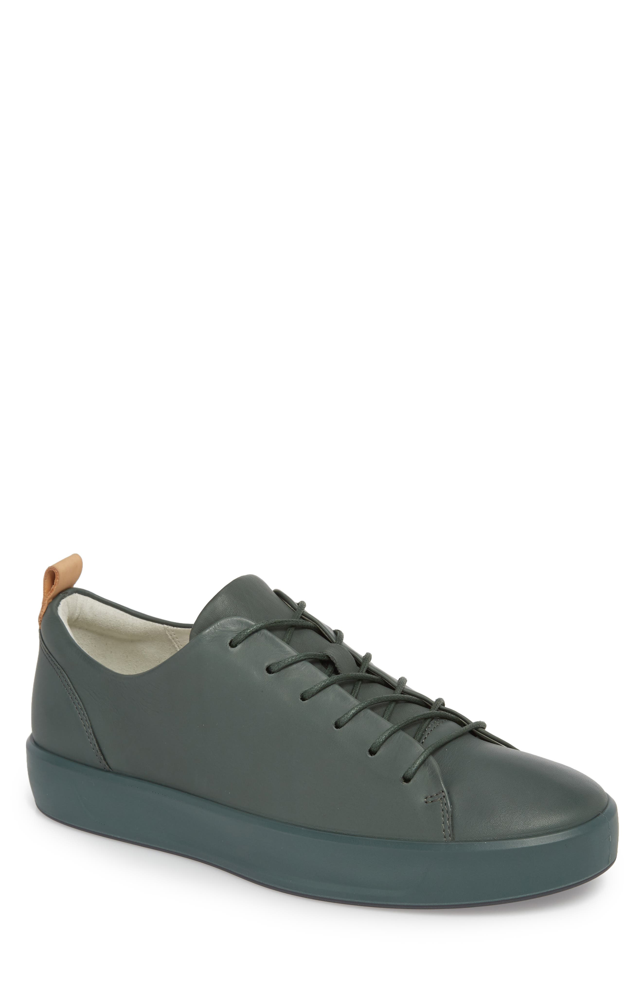Soft 8 Low Top Sneaker,                             Main thumbnail 1, color,                             Military Sage Leather