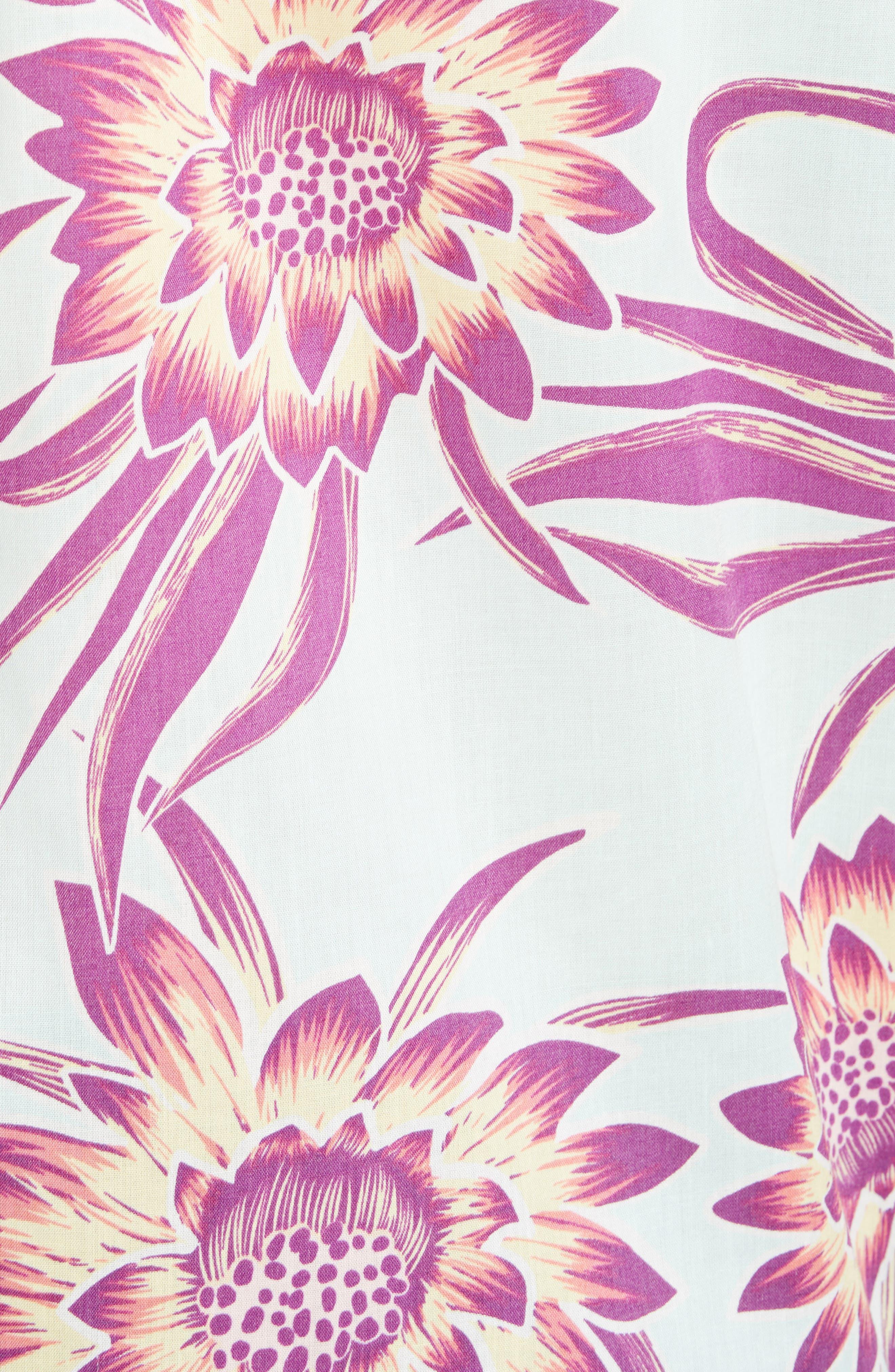 'Go To' Slim Fit Short Sleeve Sport Shirt,                             Alternate thumbnail 5, color,                             Cereus Flower/ Lite Bend Blue