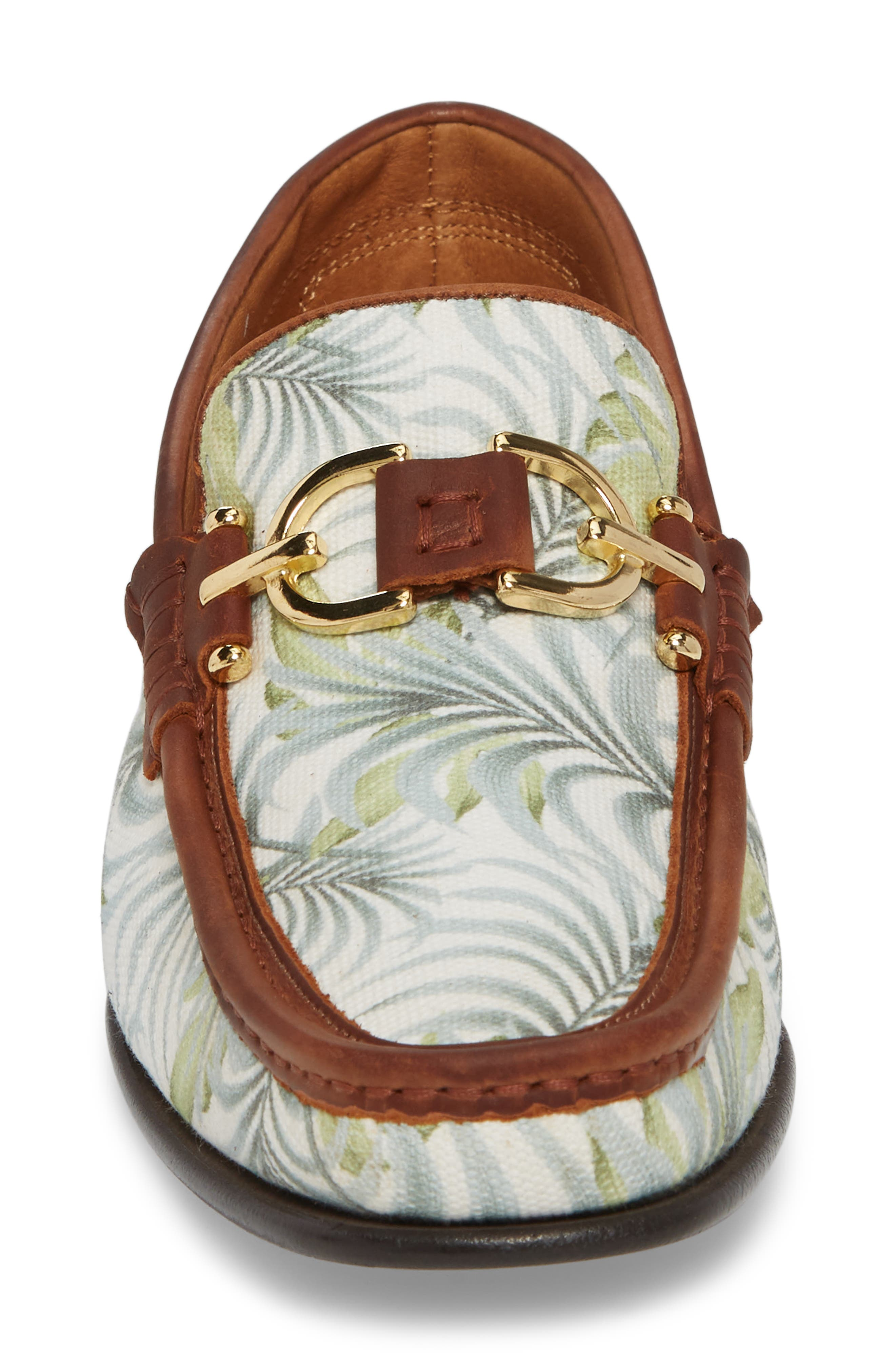 Dacio Loafer,                             Alternate thumbnail 4, color,                             Leaf Printed Canvas