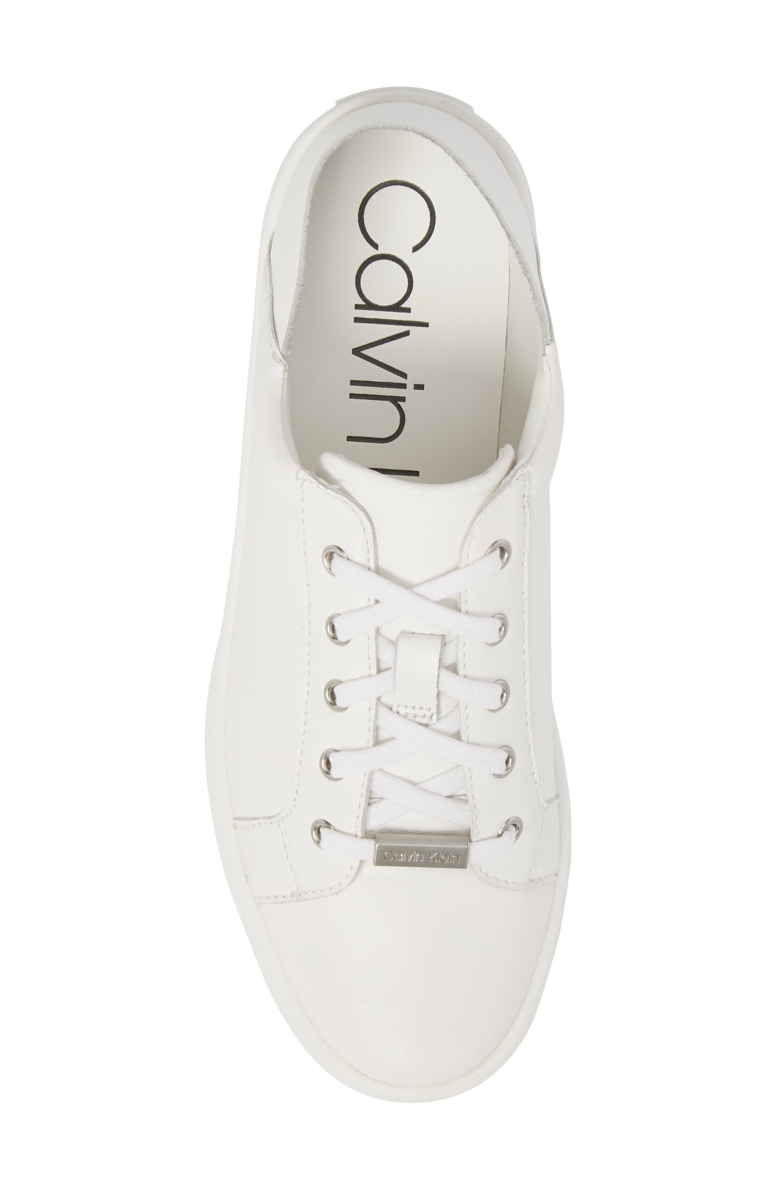 Danica Convertible Sneaker,                             Alternate thumbnail 6, color,                             White/ White Leather