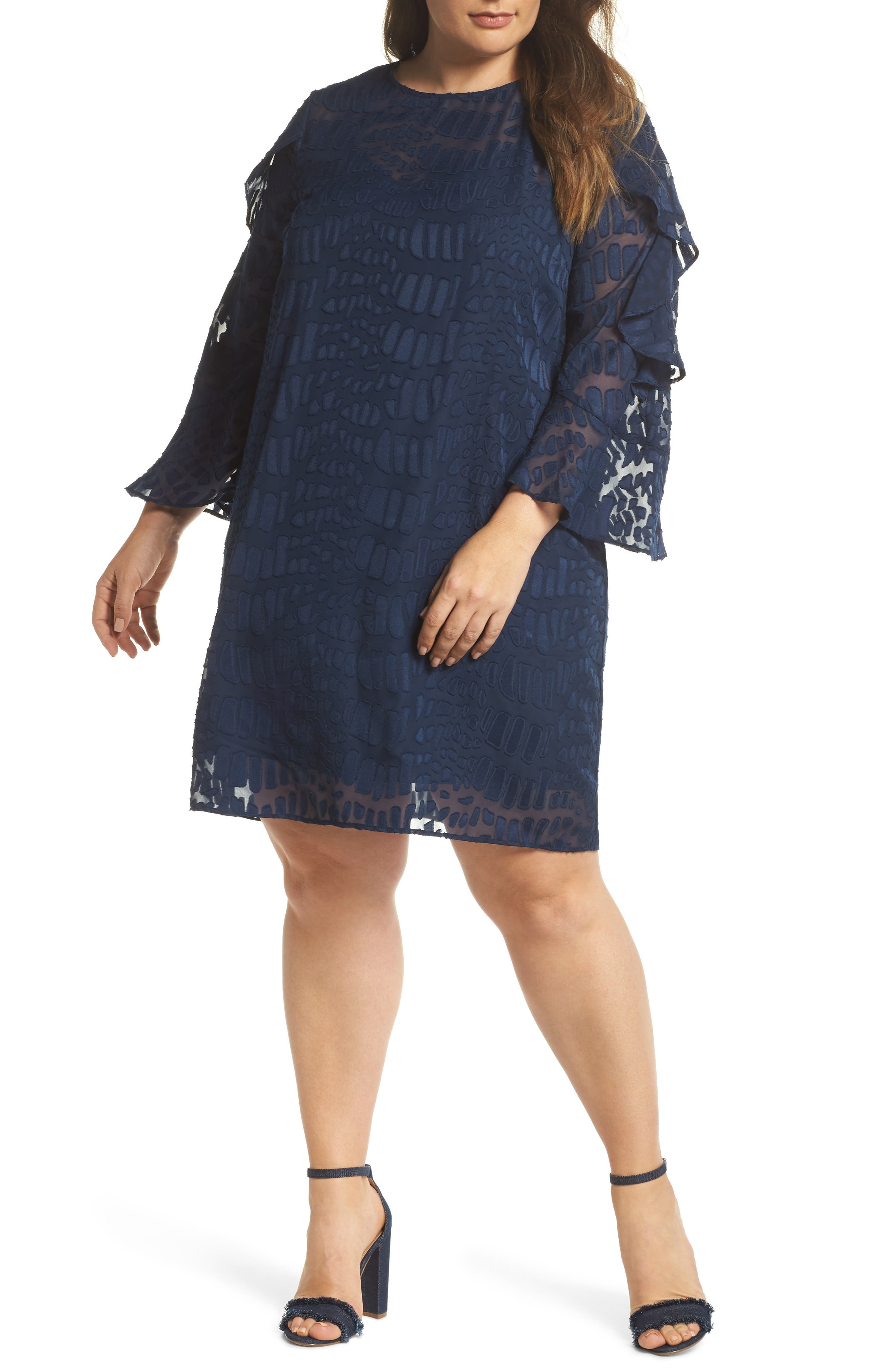 Into the Pines Shift Dress,                         Main,                         color, Navy
