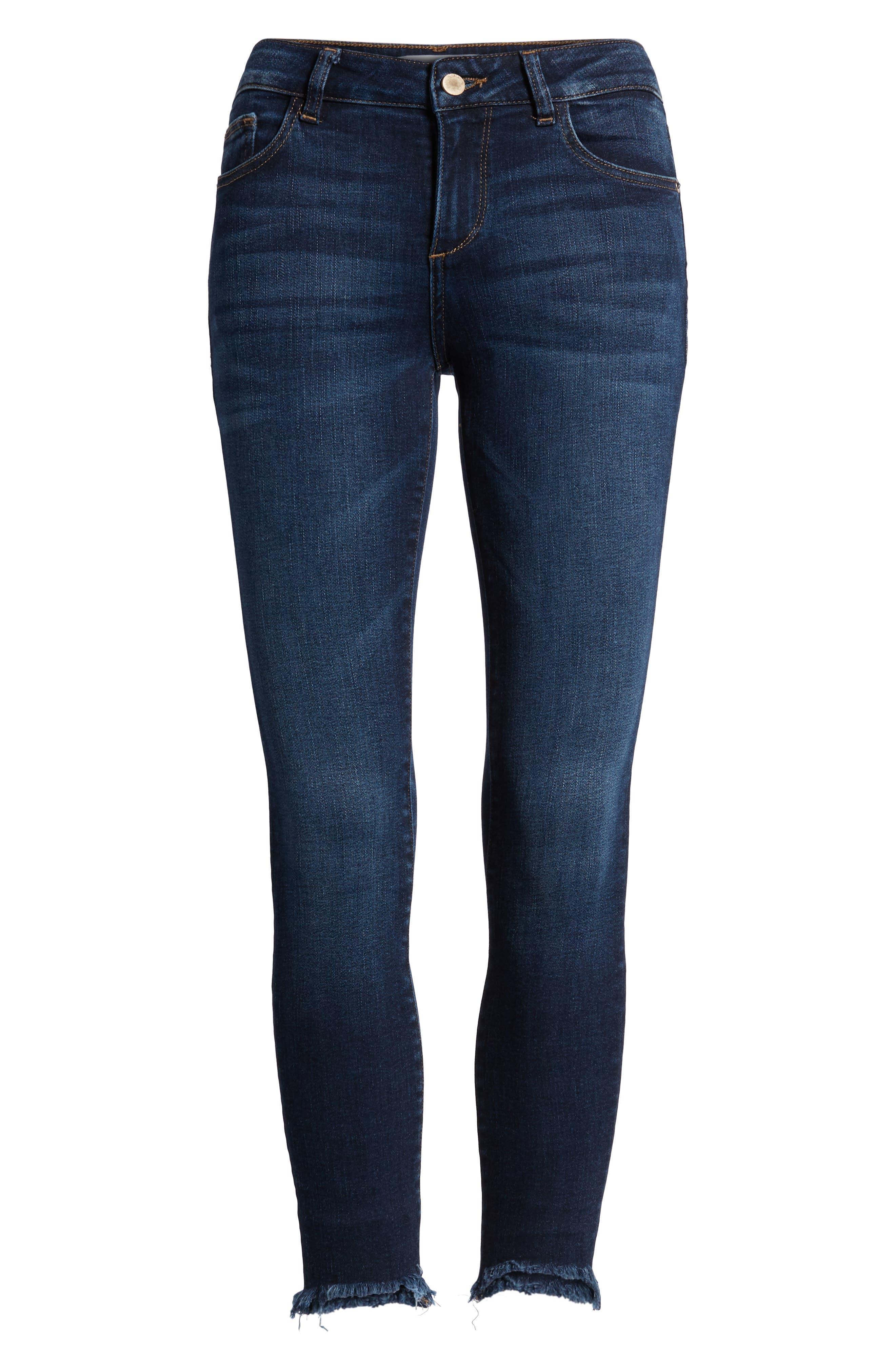 Florence Instasculpt Crop Skinny Jeans,                             Alternate thumbnail 7, color,                             Ralston