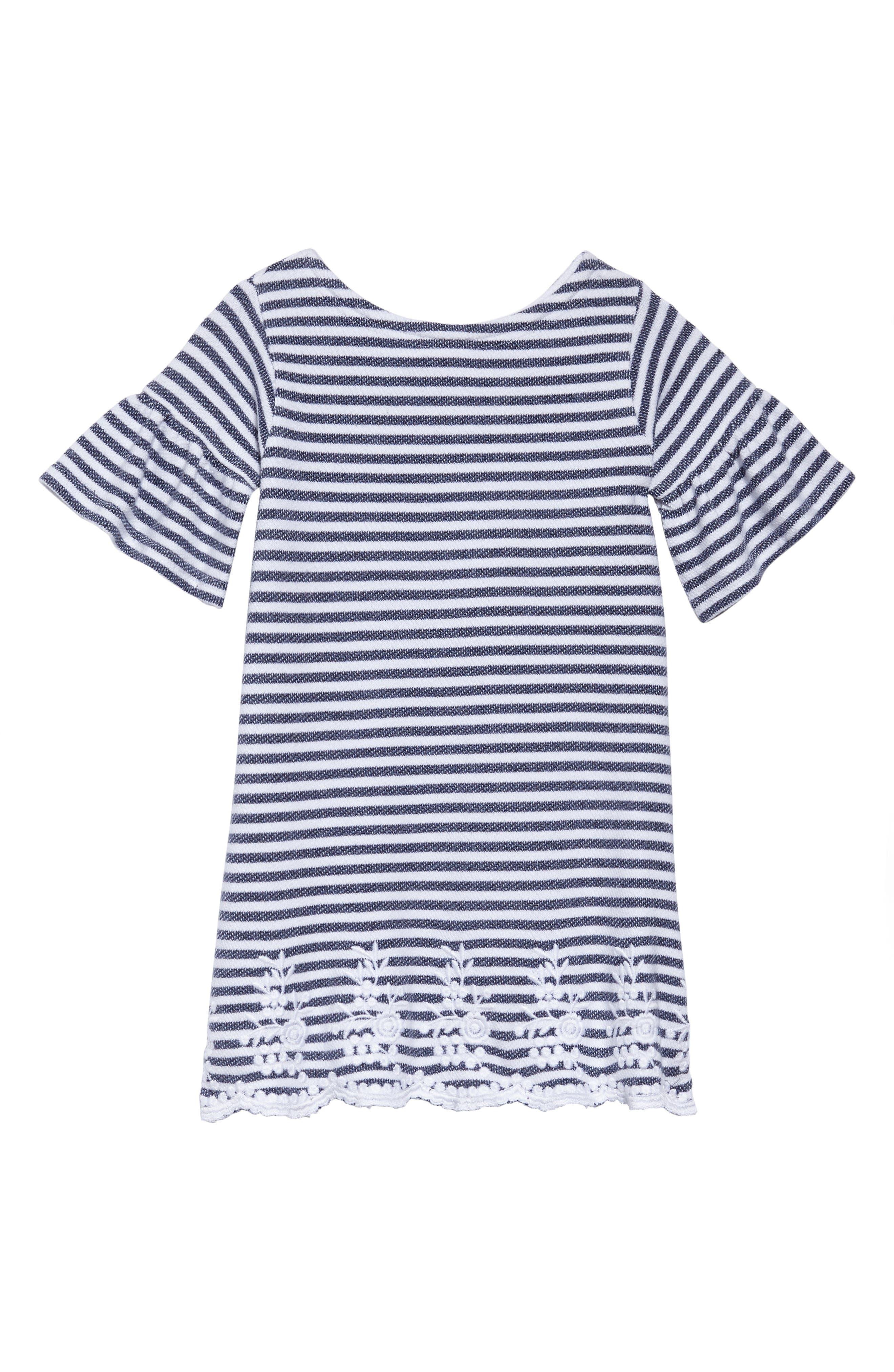 Brynne Stripe Dress,                             Main thumbnail 1, color,                             Blue
