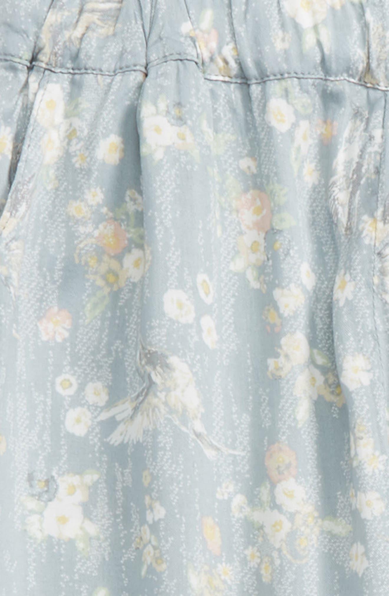 Sonia Floral Print Pants,                             Alternate thumbnail 2, color,                             Sky