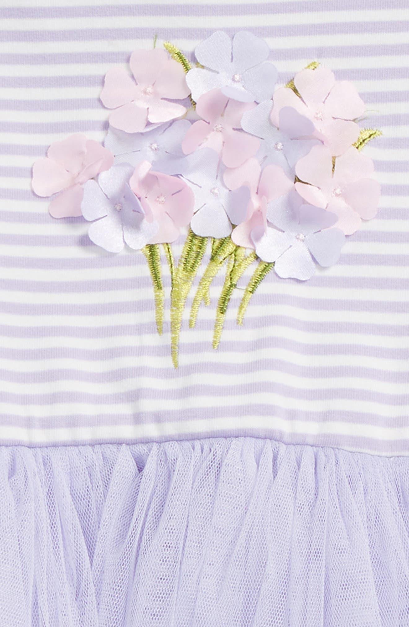 Bouquet Tutu Dress,                             Alternate thumbnail 2, color,                             Lavender/ White