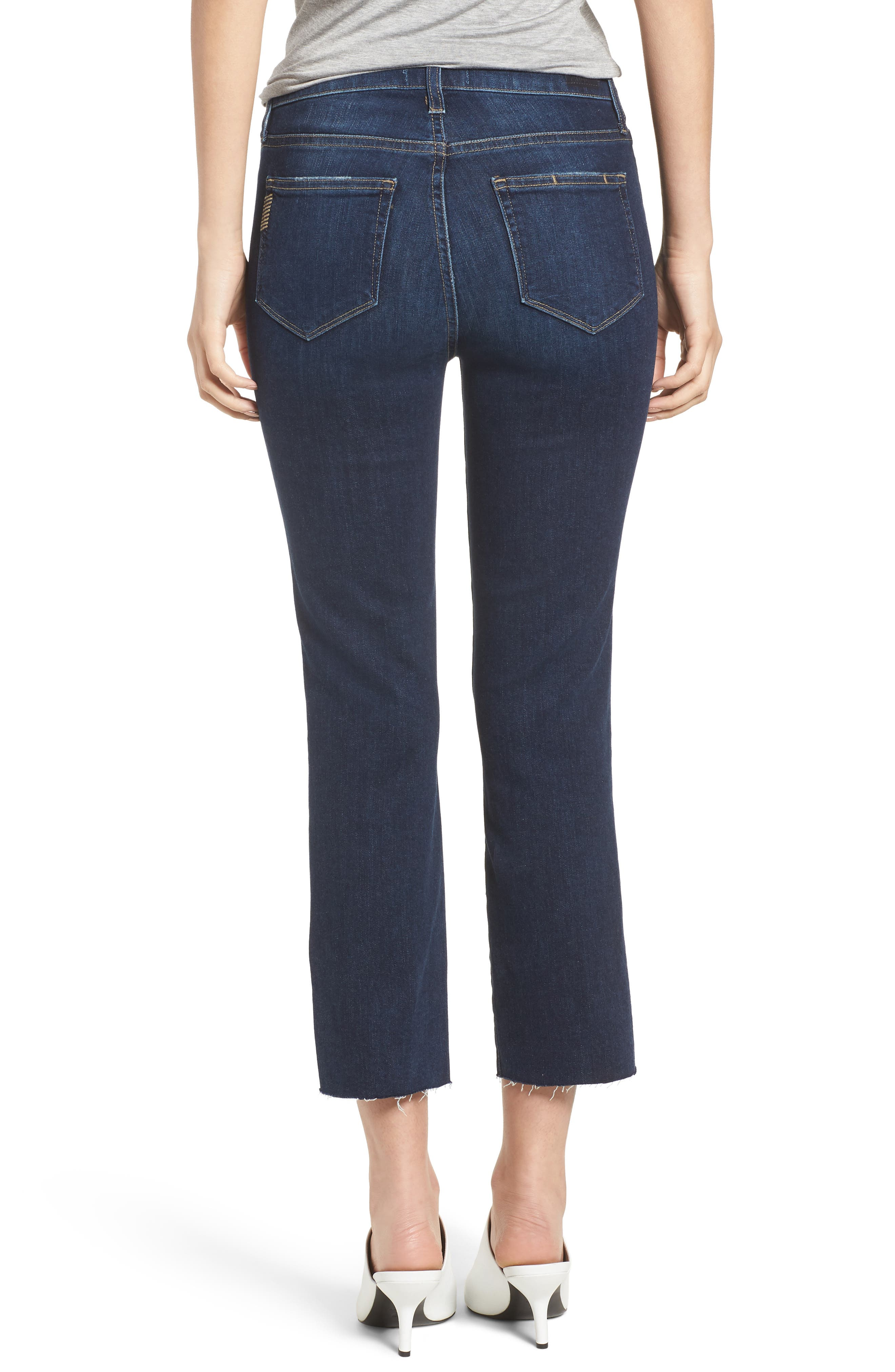 Hoxton High Waist Crop Straight Leg Jeans,                             Alternate thumbnail 2, color,                             Mazzetti