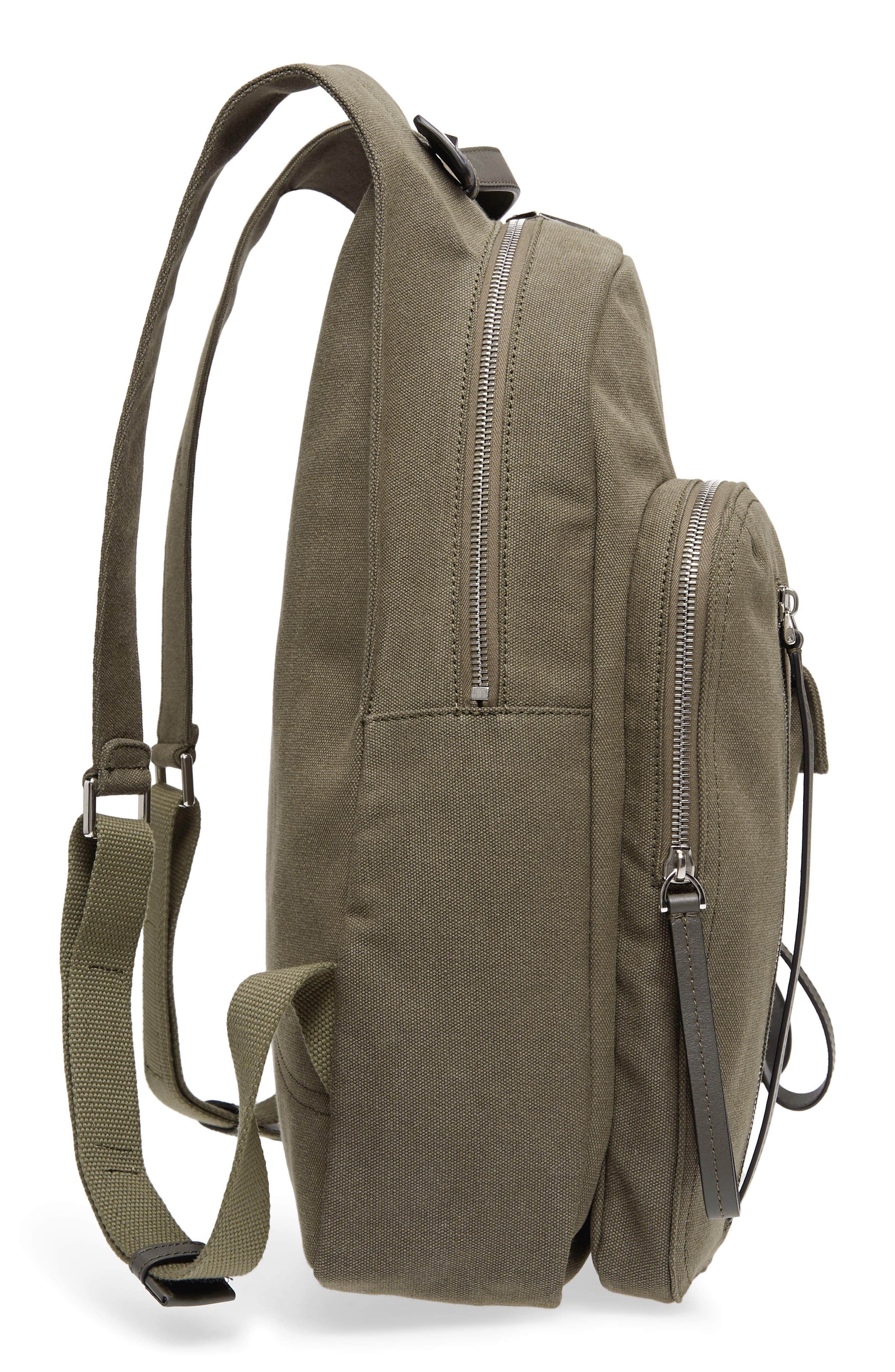 GARAVANI Canvas Military Backpack,                             Alternate thumbnail 5, color,                             L90 Olive
