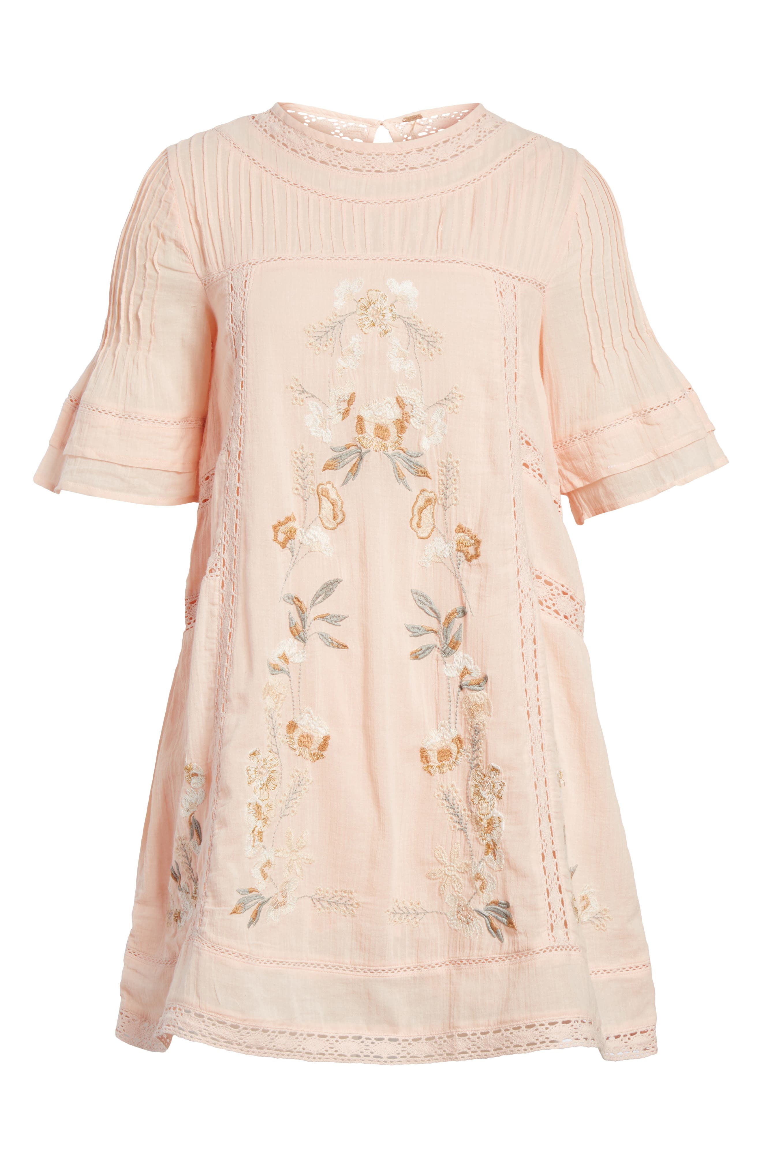'Perfectly Victorian' Minidress,                             Alternate thumbnail 5, color,                             Pink