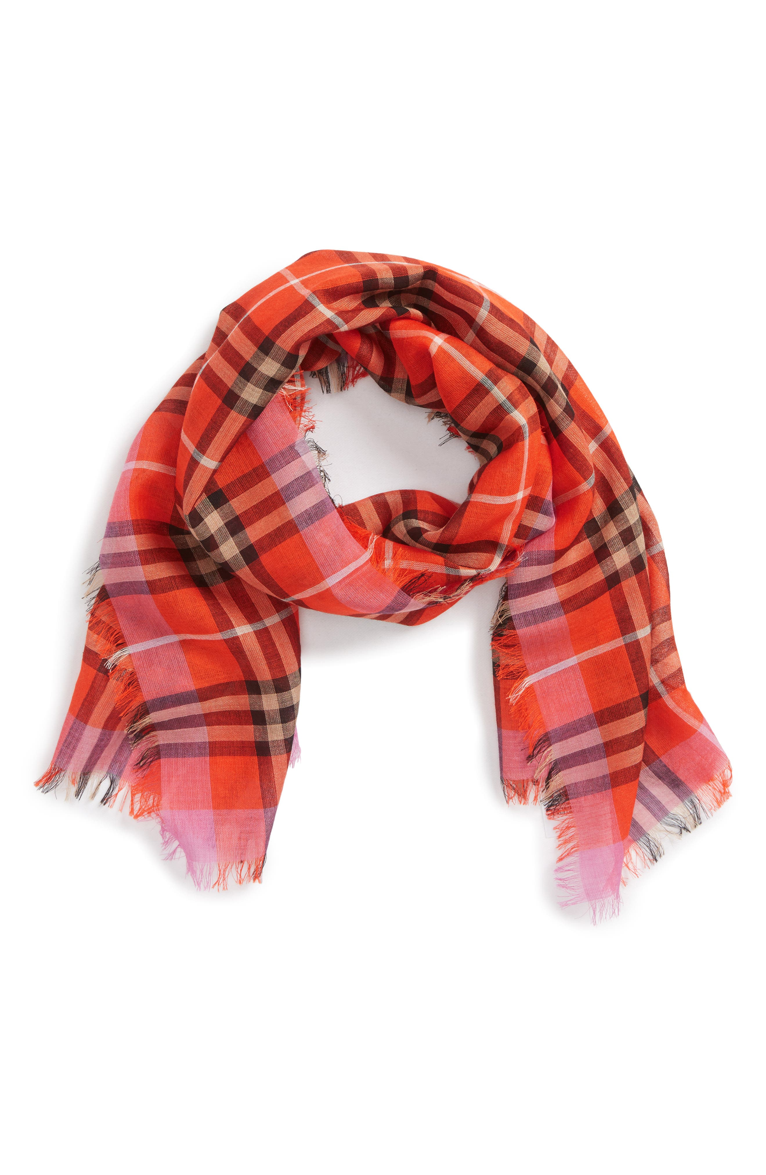 Alternate Image 1 Selected - Burberry Vintage Check Wool & Silk Blend Scarf (Girls)