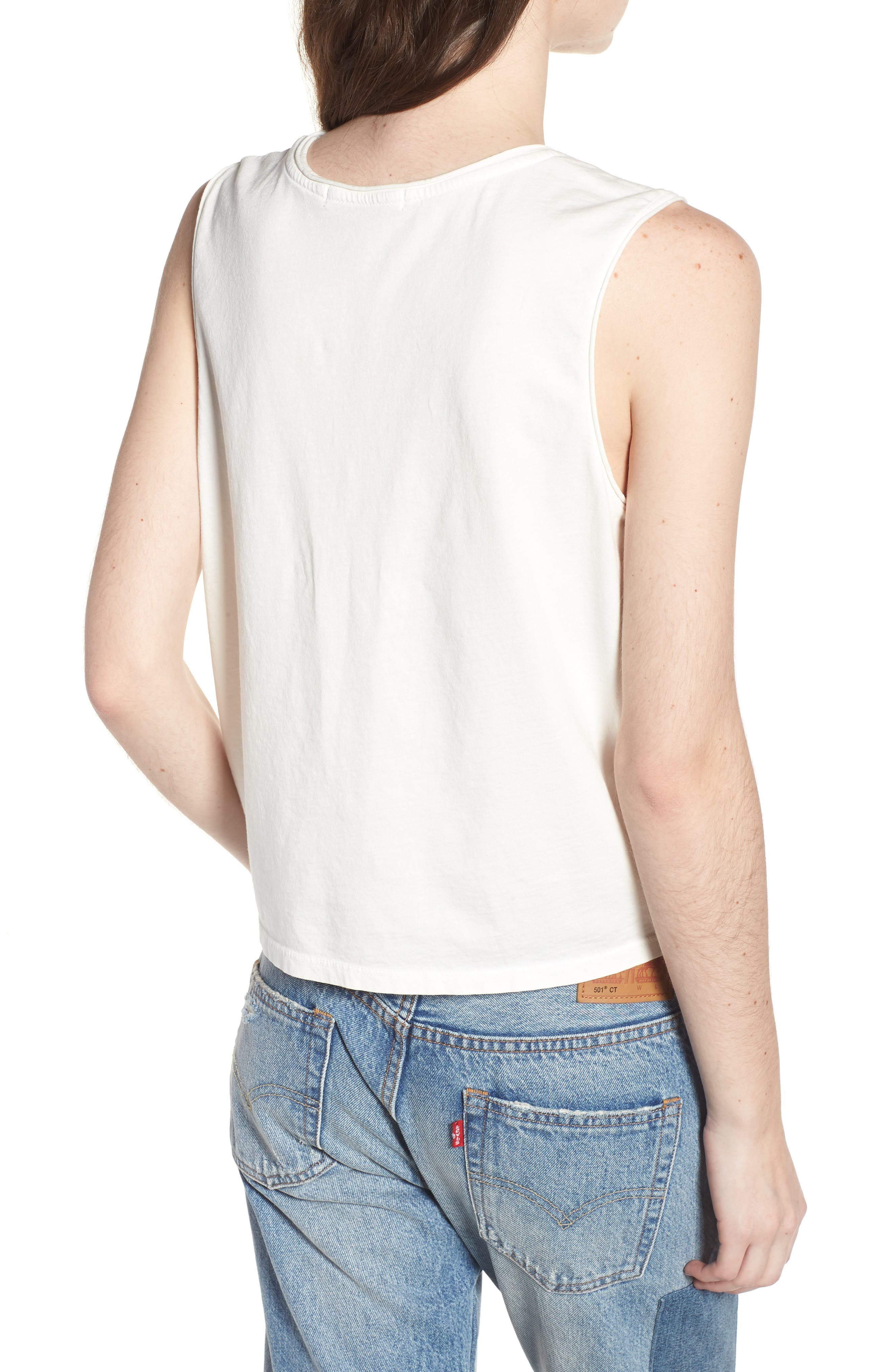 Game On Muscle Tank,                             Alternate thumbnail 2, color,                             Vintage White Blue
