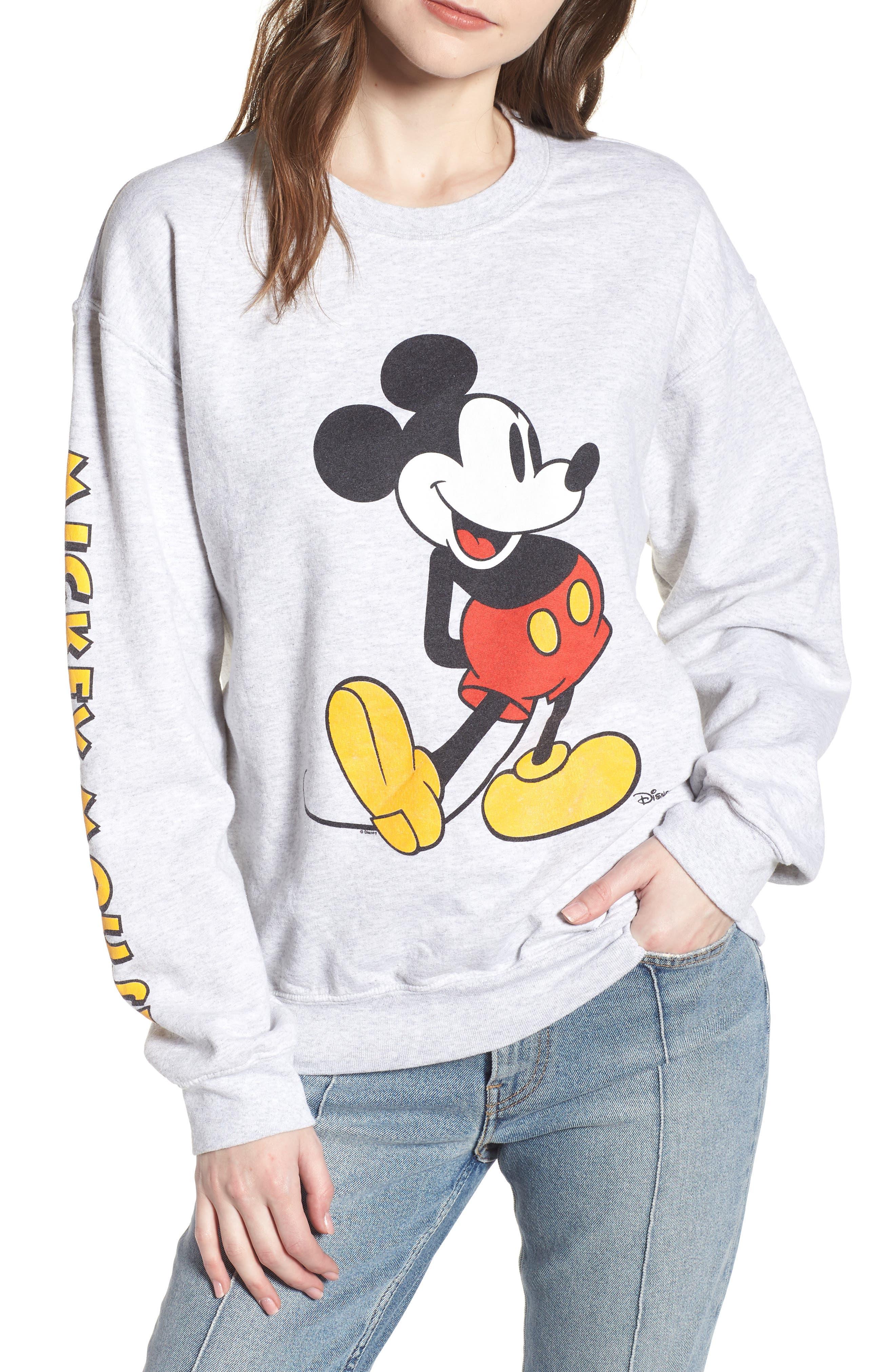 Junk Food Mickey Mouse Oversize Sweatshirt