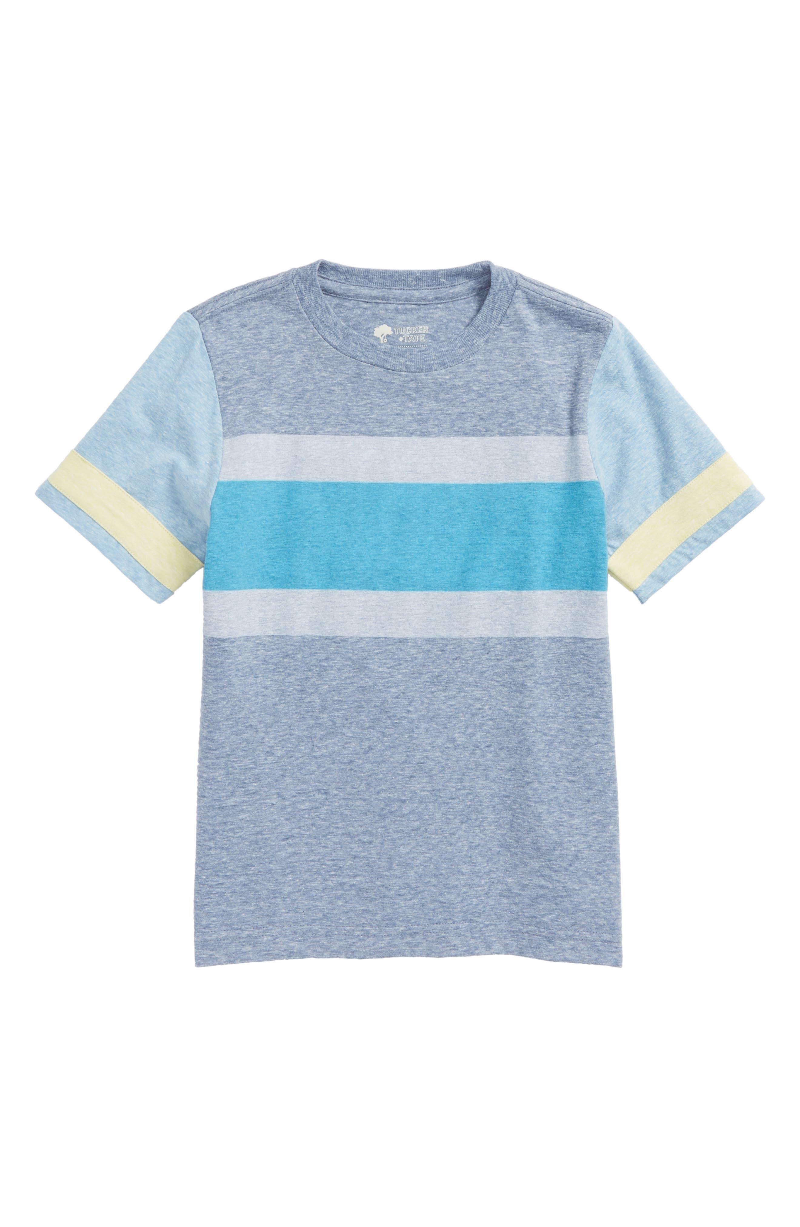 Stripe T-Shirt,                             Main thumbnail 1, color,                             Blue Calm- Blue