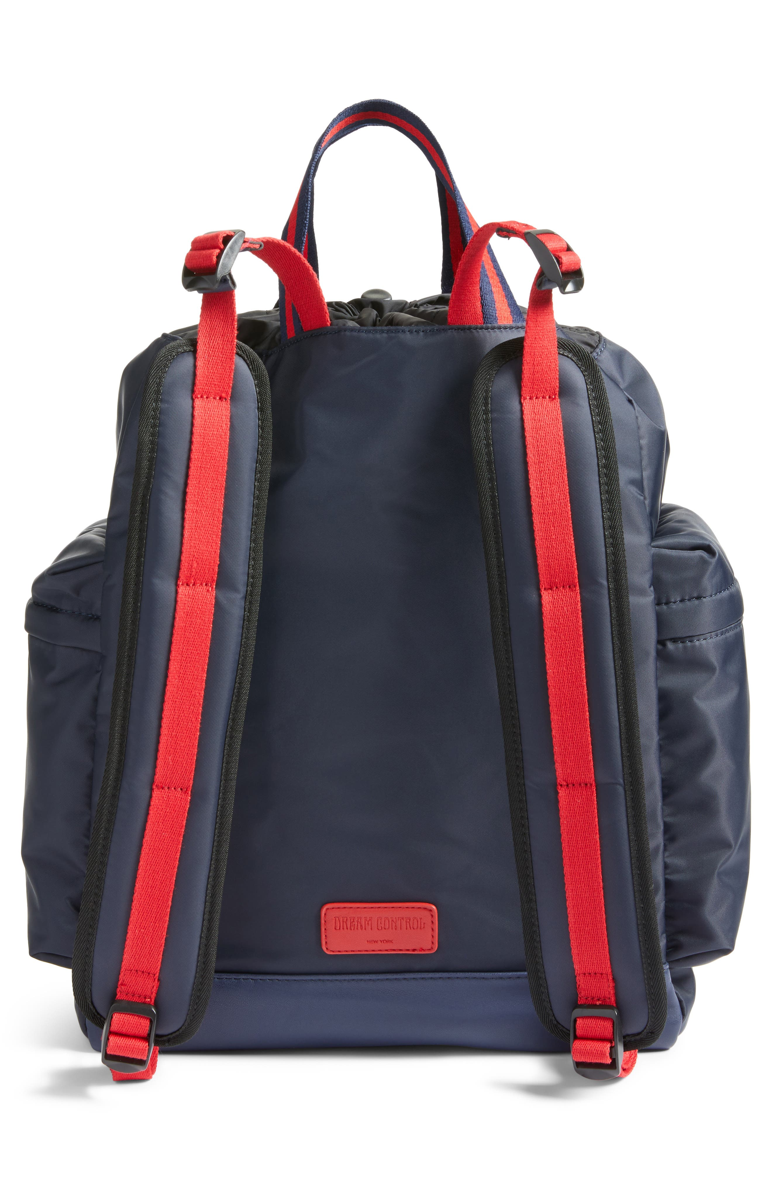 Yungg Stripe Strap Backpack,                             Alternate thumbnail 3, color,                             Navy/ Red