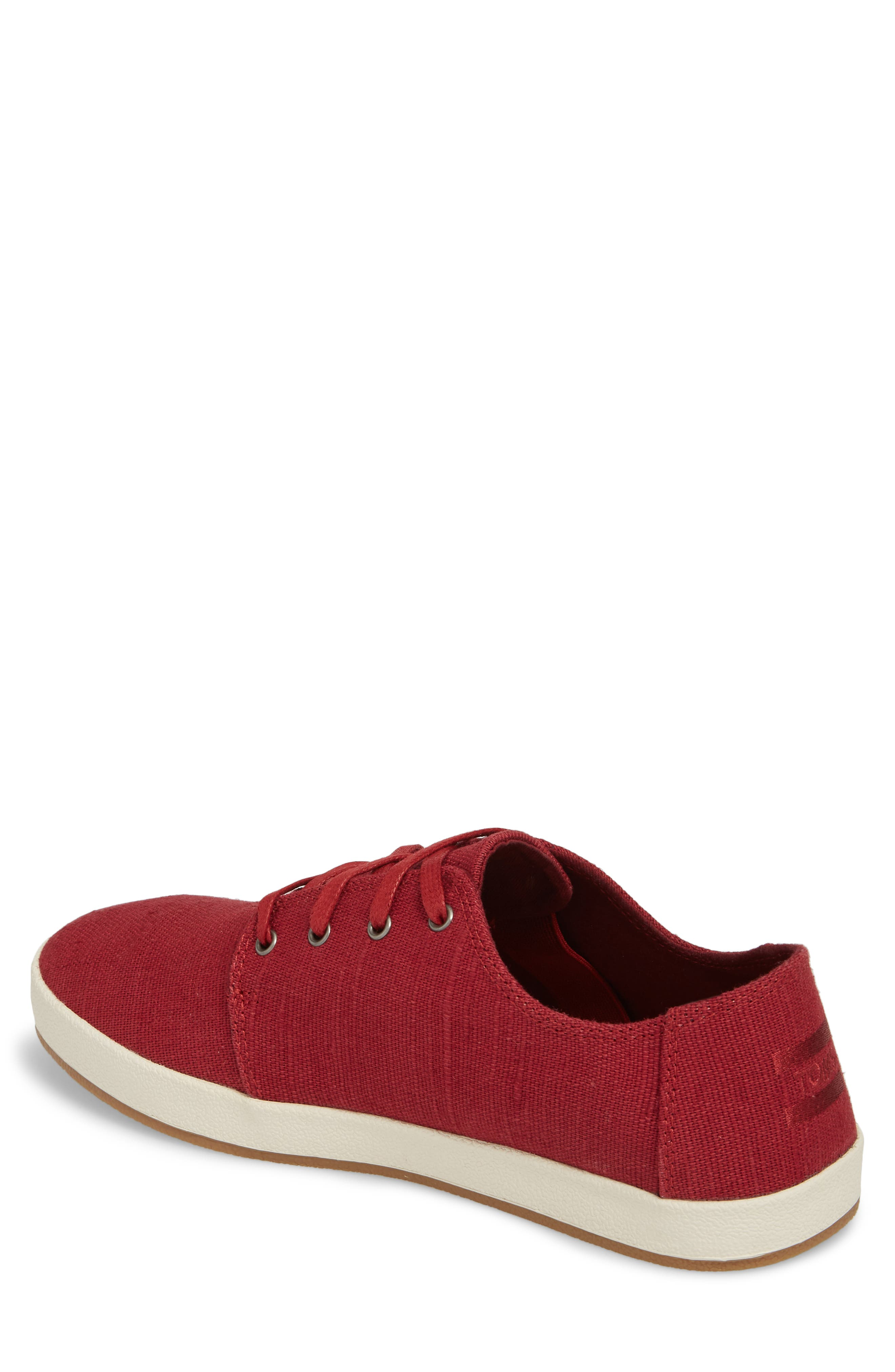 Payton Sneaker,                             Alternate thumbnail 2, color,                             Henna Red Heritage Canvas