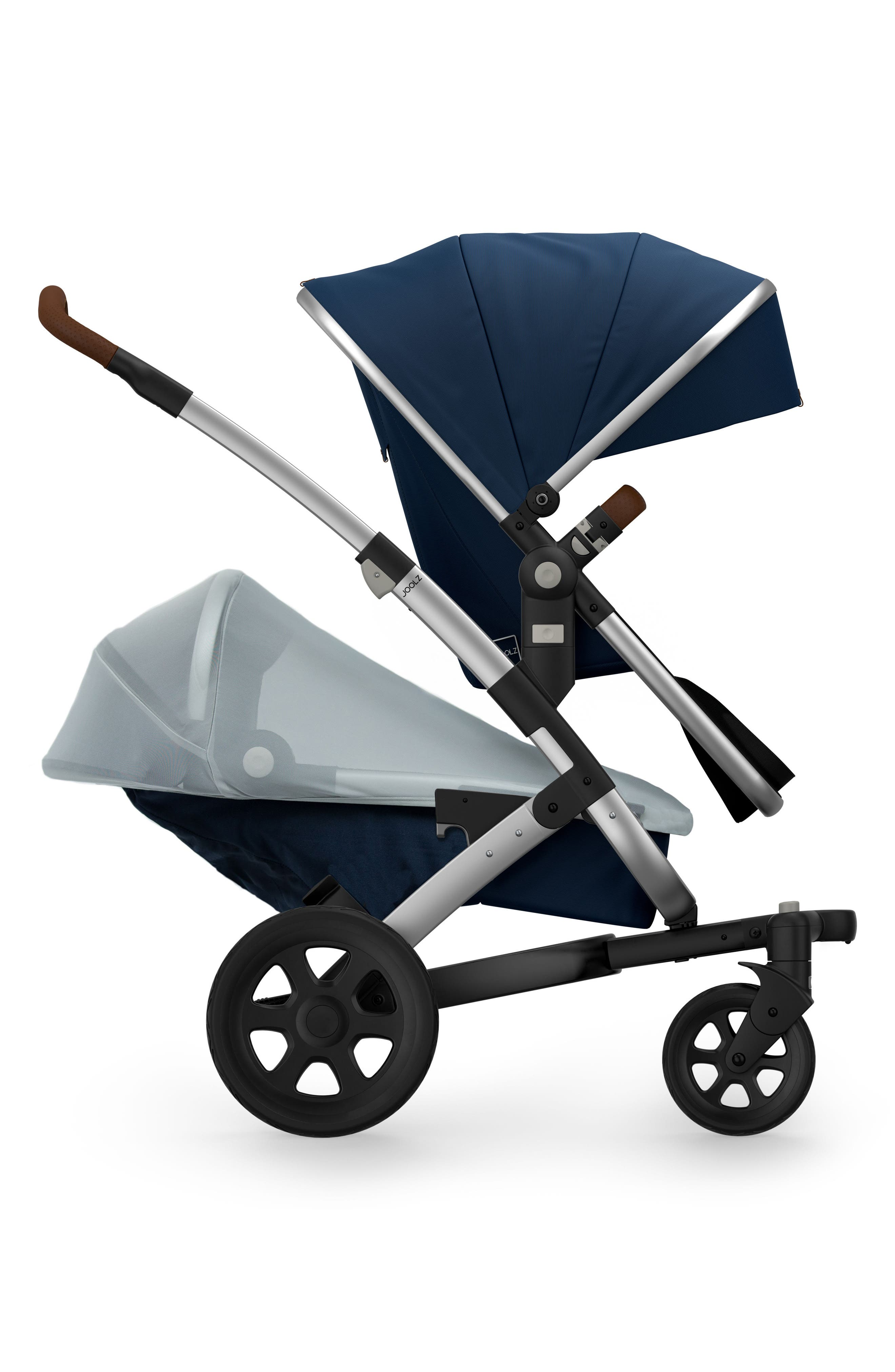 Geo2 Stroller Lower UV Mosquito Net,                             Main thumbnail 1, color,                             Silver