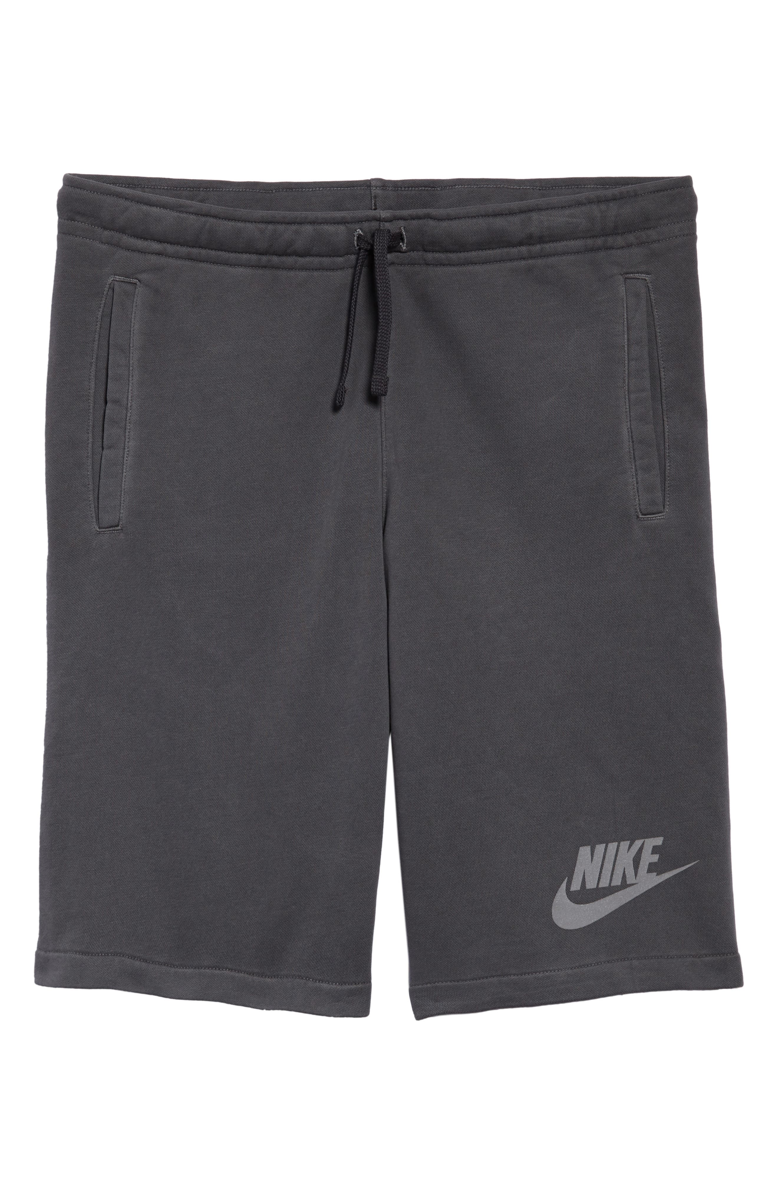 NSW Cotton Blend Shorts,                             Alternate thumbnail 6, color,                             Black/ Anthracite/ Cool Grey