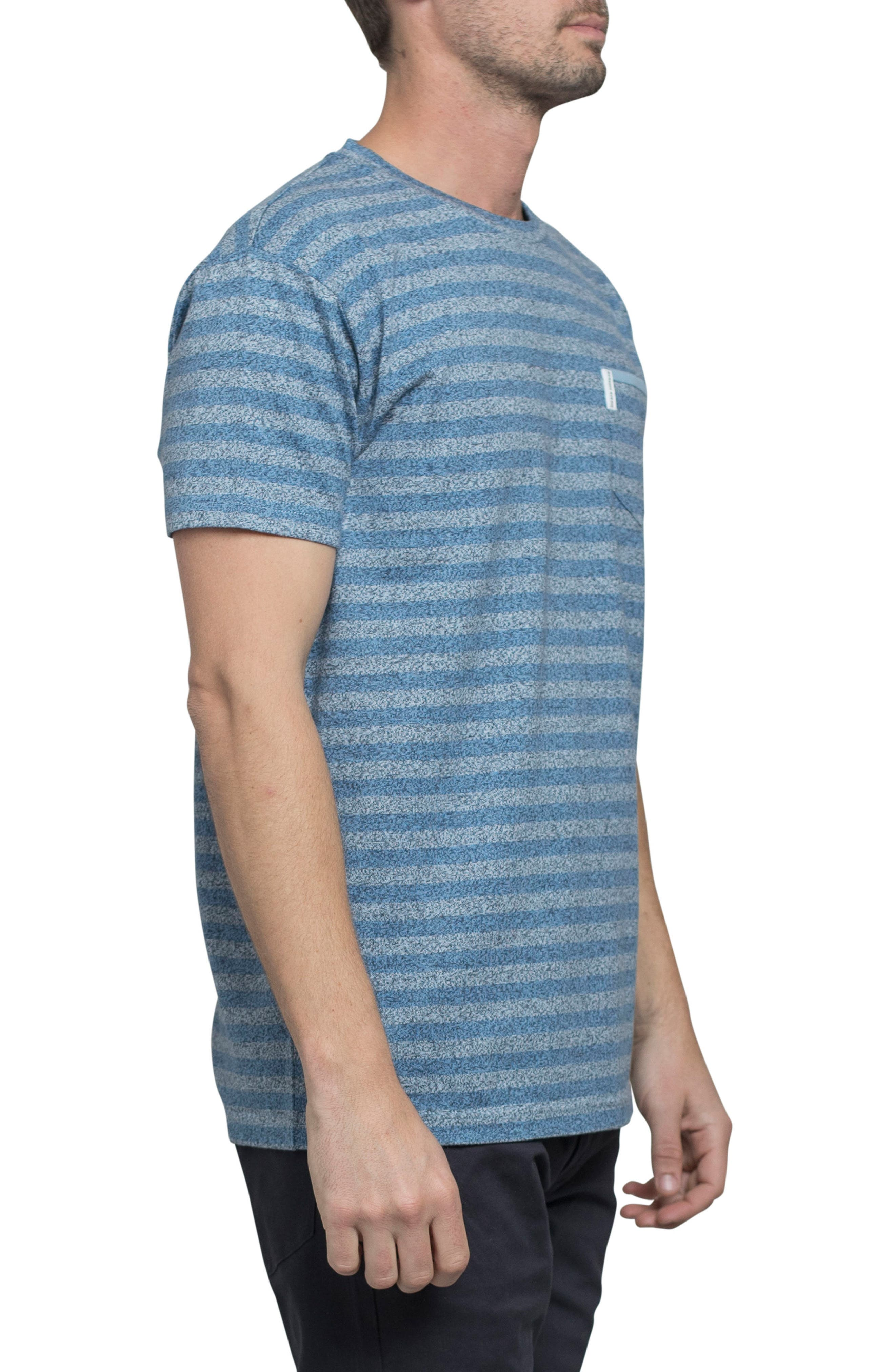 Stripe Crewneck T-Shirt,                             Alternate thumbnail 3, color,                             Off White