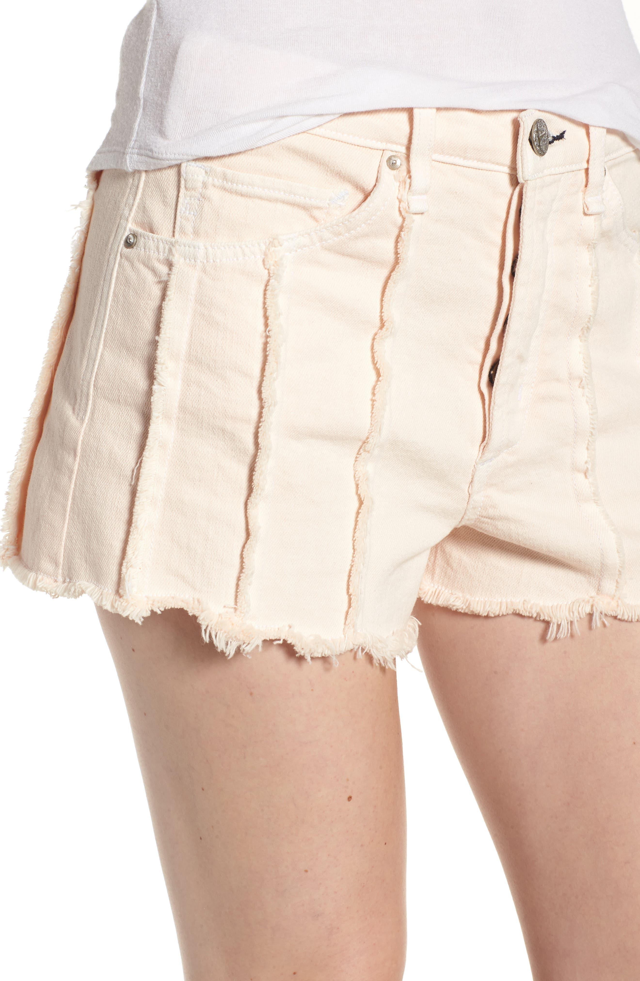 Georgia May High Waist Shorts,                             Alternate thumbnail 4, color,                             Baby Flamingo
