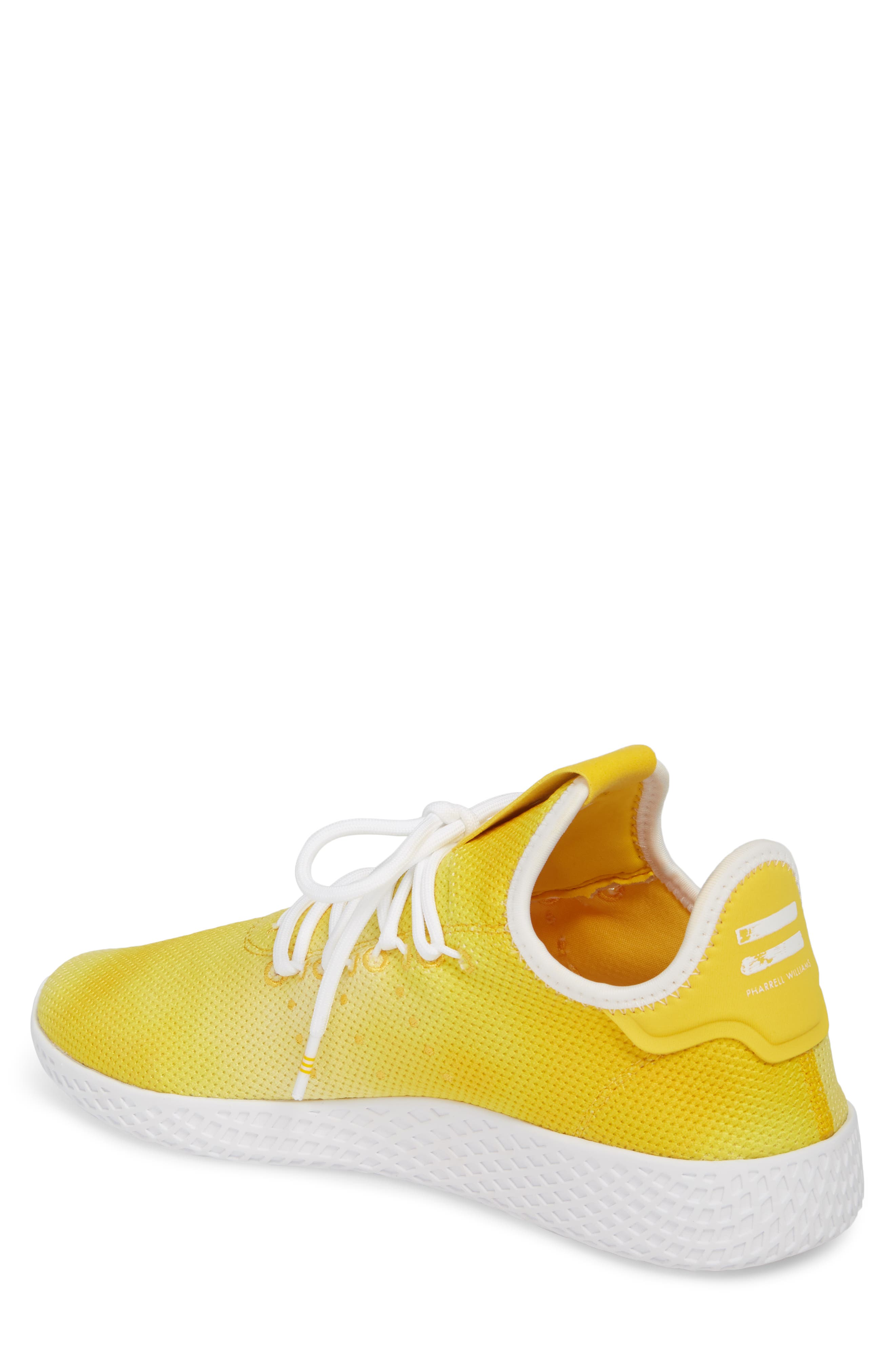 Pharrell Williams Tennis Hu Sneaker,                             Alternate thumbnail 2, color,                             Yellow/ White