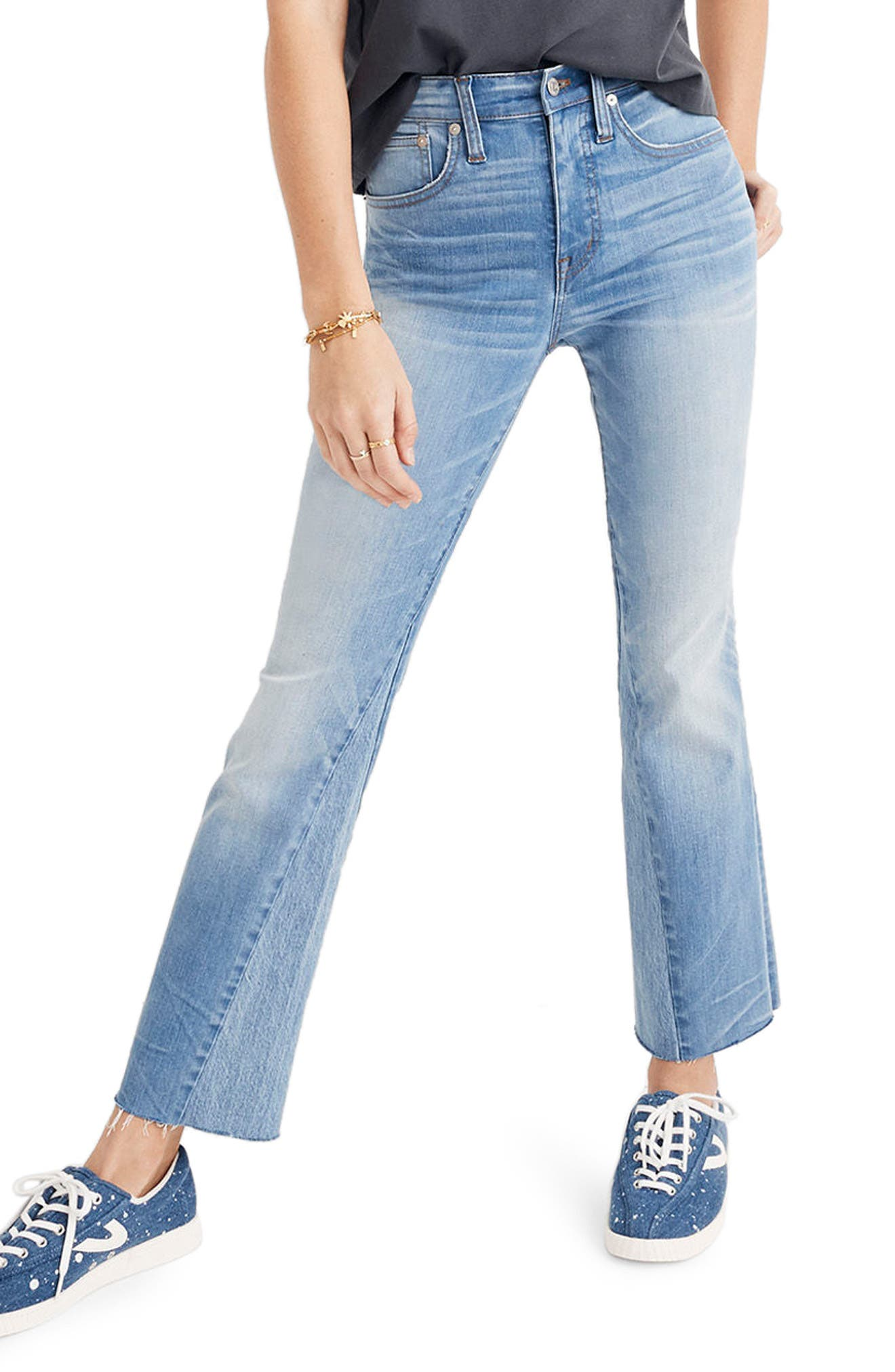 Madewell Cali Demi Boot Jeans (McKinney Wash) (Short)