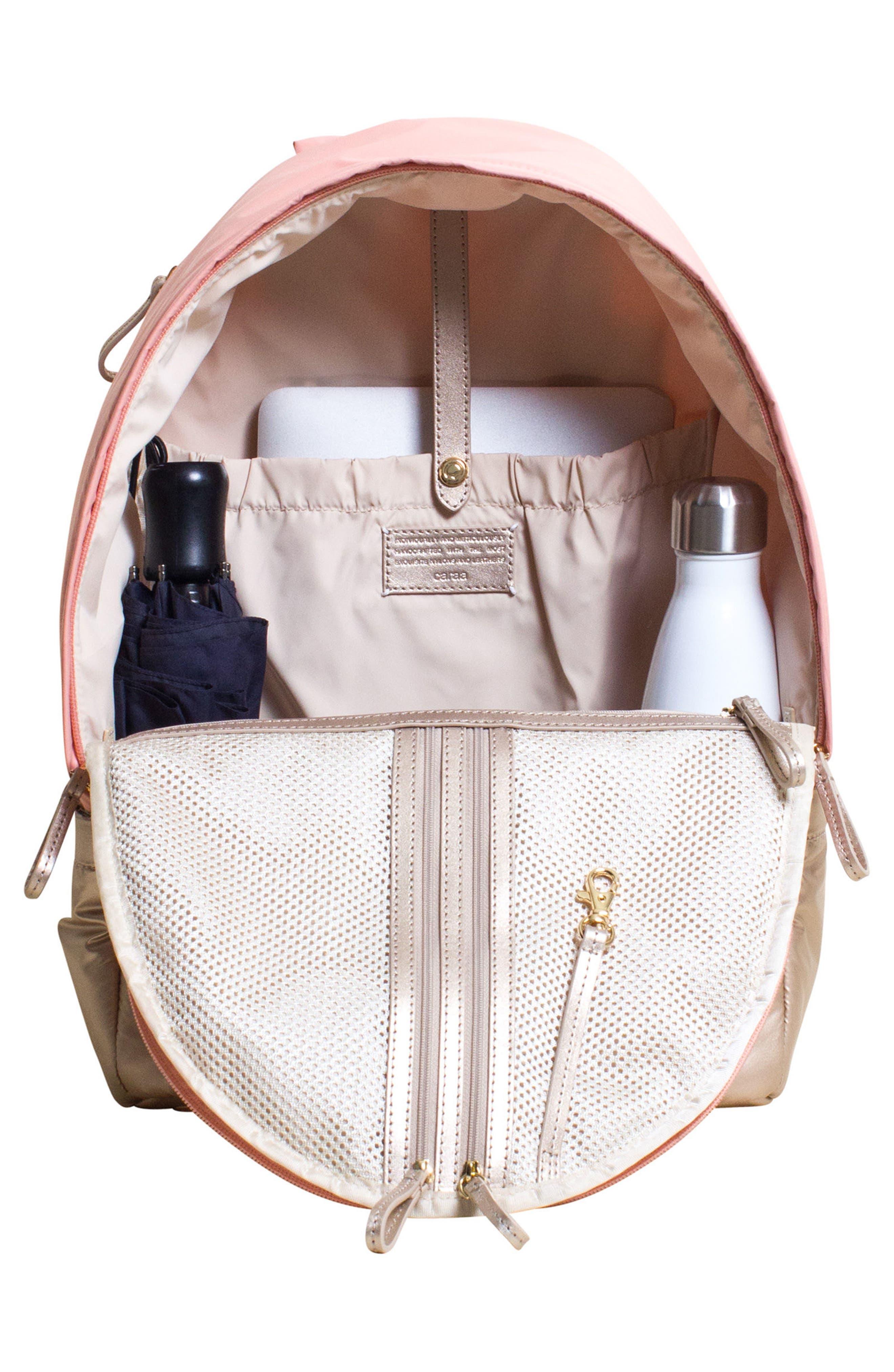 Stratus Waterproof Backpack,                             Alternate thumbnail 3, color,                             Pink
