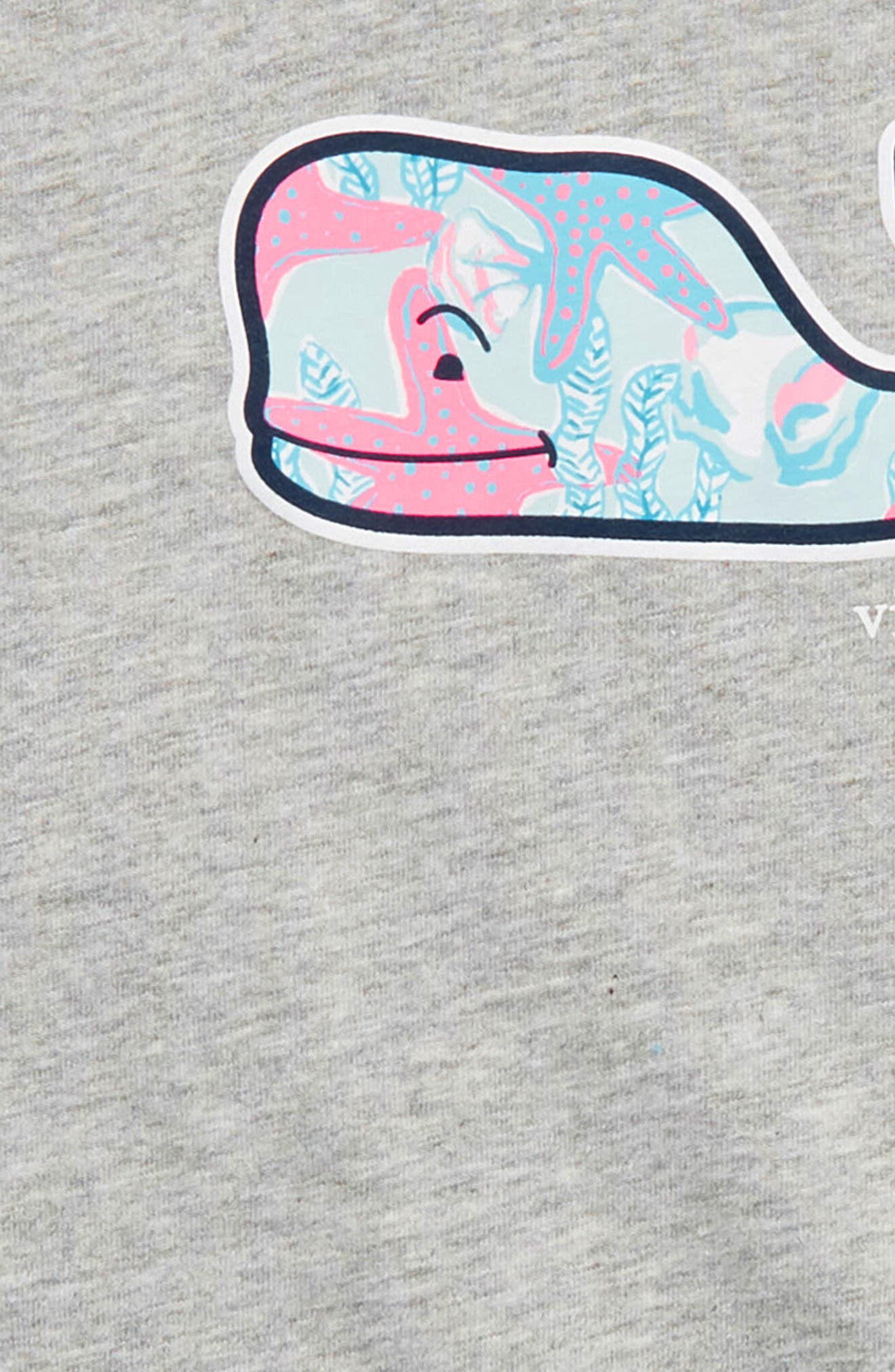 Starfish Whale Graphic Tee,                             Alternate thumbnail 2, color,                             Gray Heather