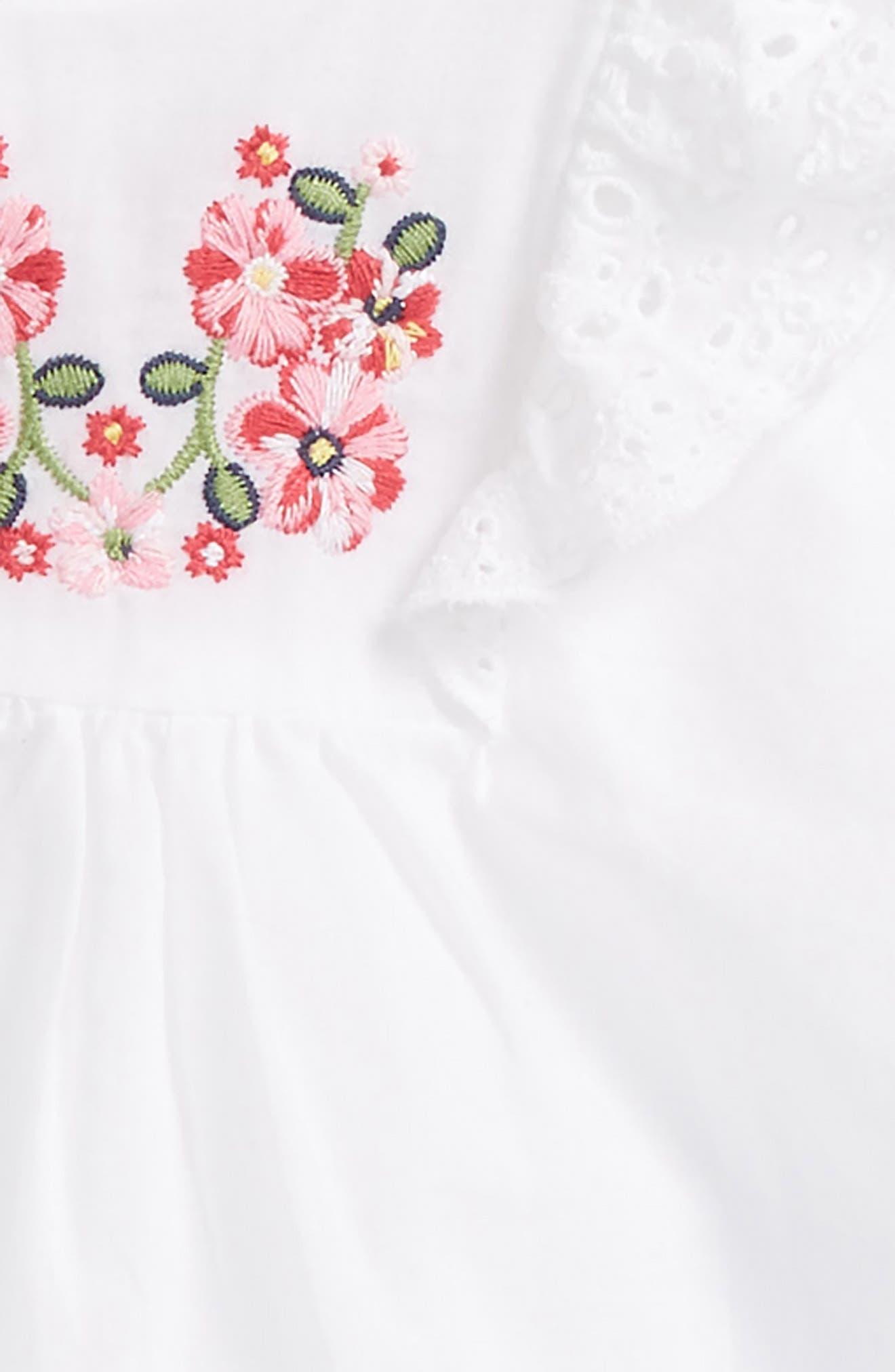 Embroidered Eyelet Tunic, Leggings & Head Wrap Set,                             Alternate thumbnail 2, color,                             Denim