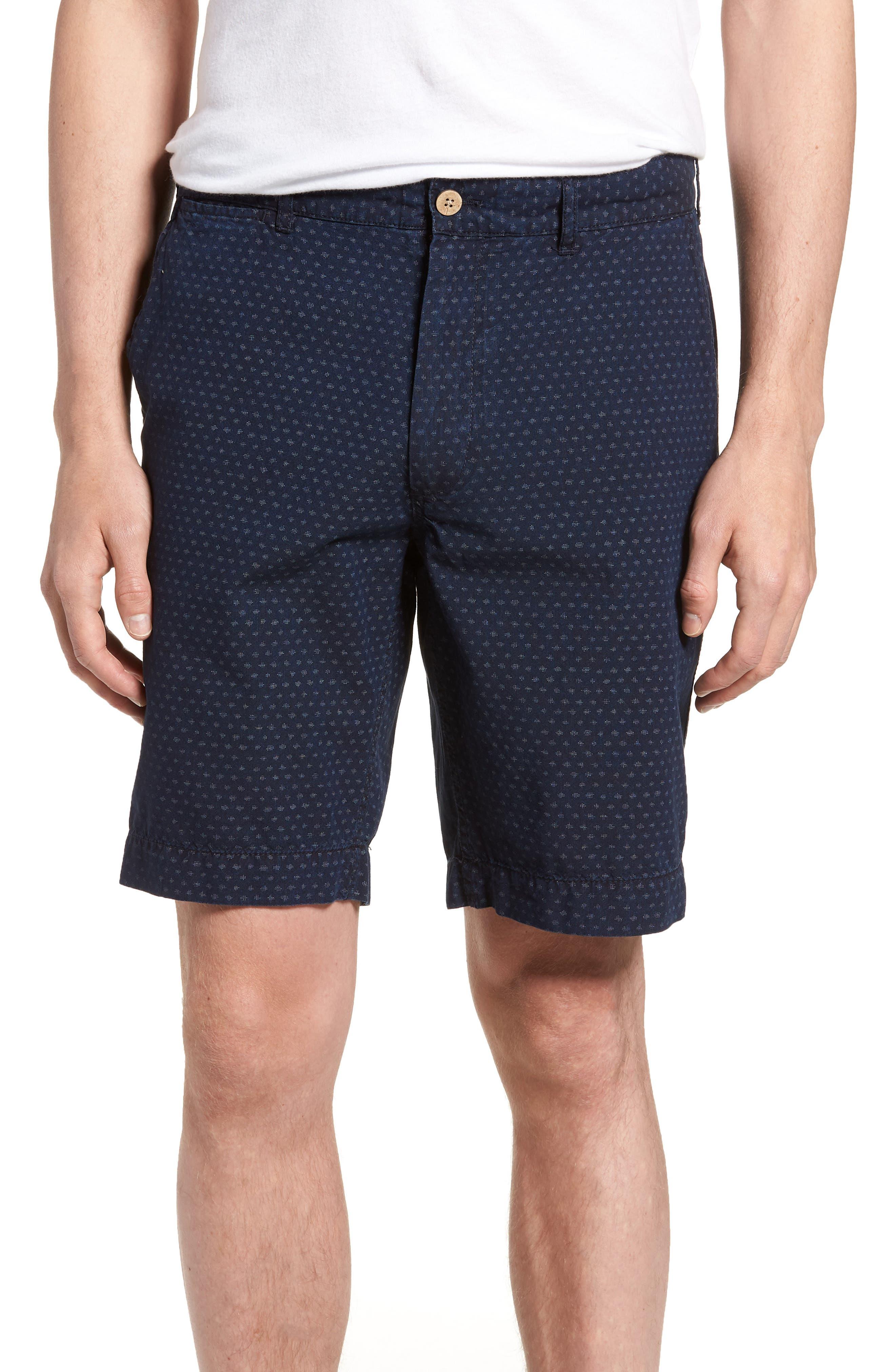Asbury Shorts,                         Main,                         color, Indigo Fleck
