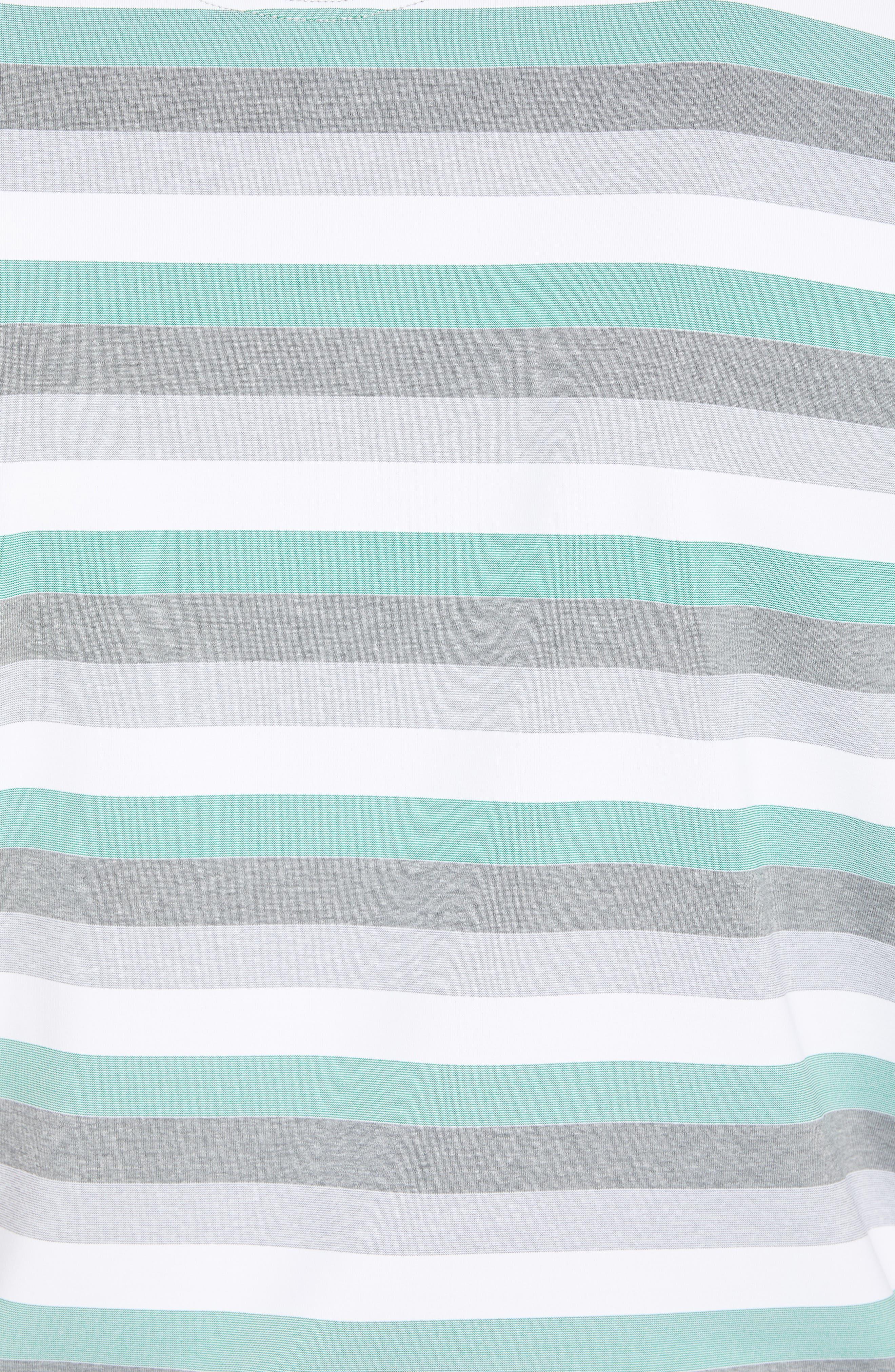 Tech Baylor Stripe Jersey Polo,                             Alternate thumbnail 5, color,                             Kelly