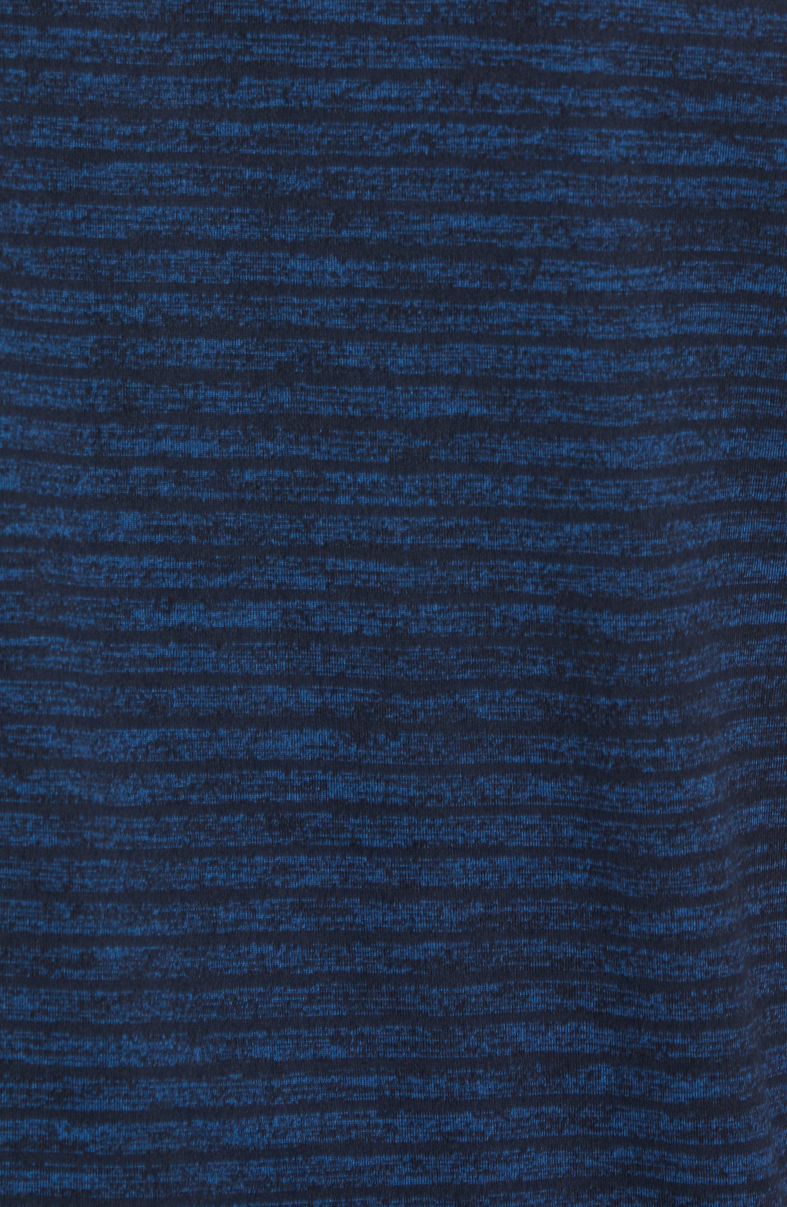 Stripe Crewneck T-Shirt,                             Alternate thumbnail 5, color,                             Blue Iolite Stripe