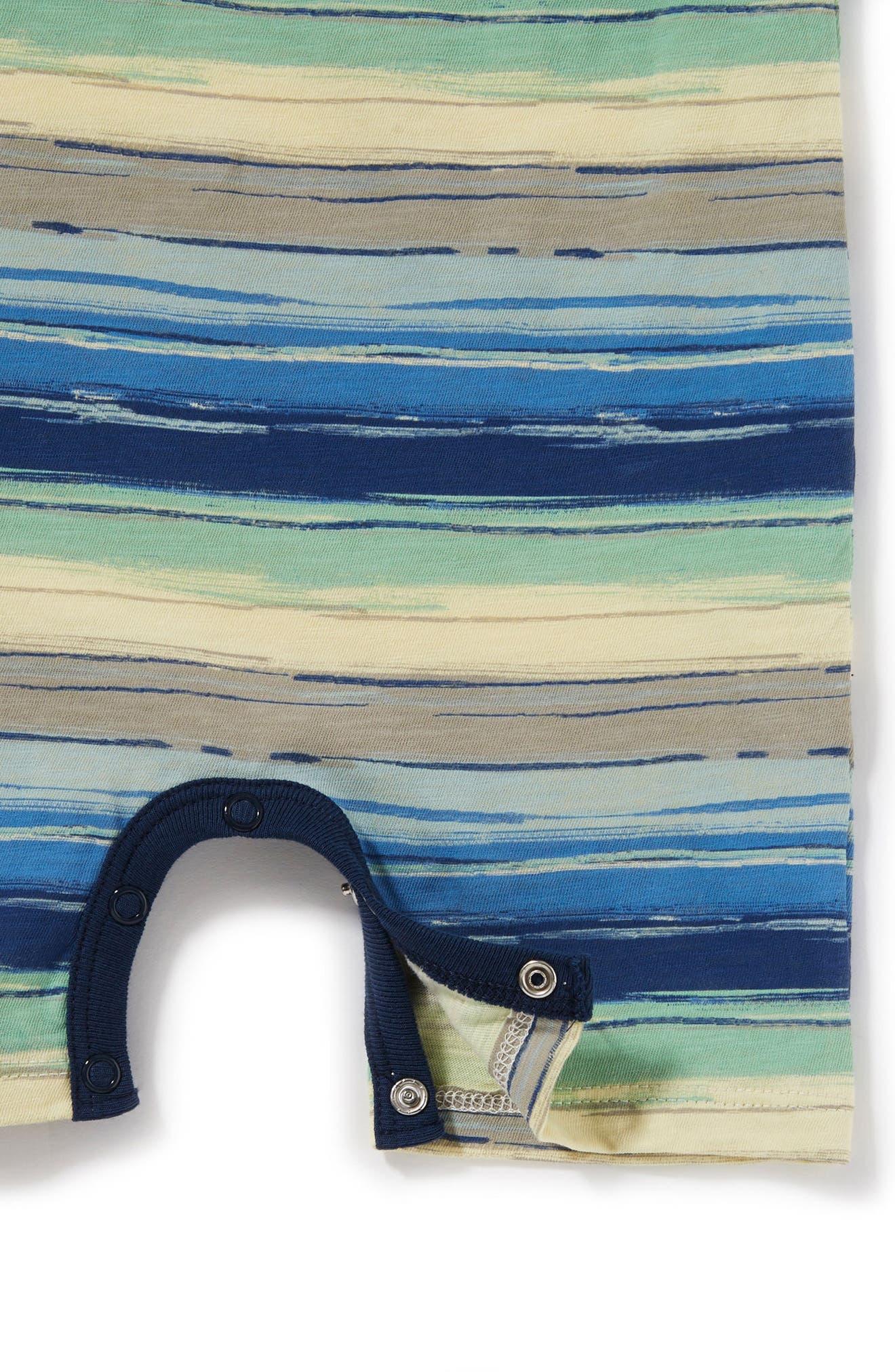 Peek Tucker Stripe Romper,                             Alternate thumbnail 2, color,                             Blue