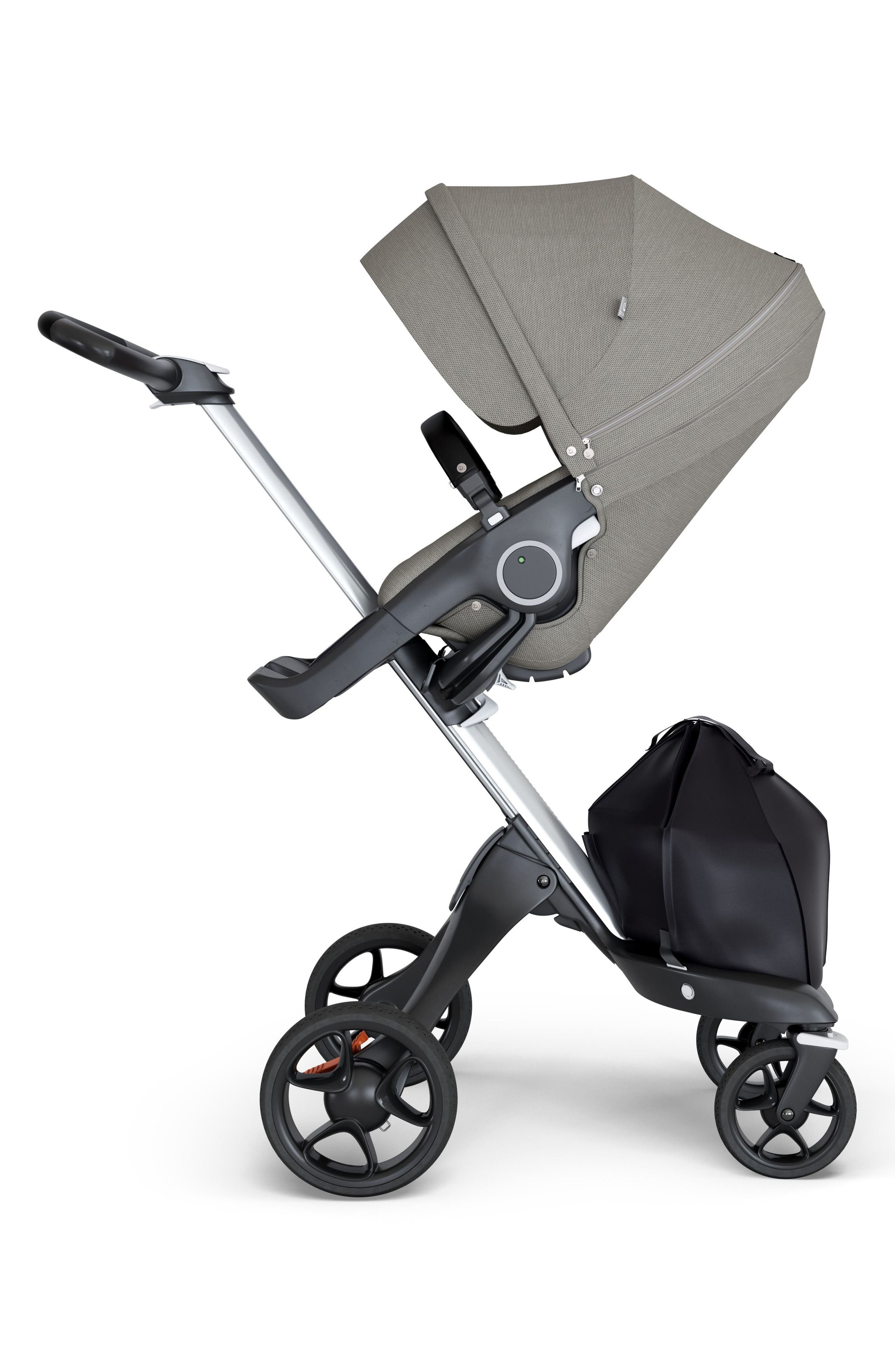 Xplory<sup>®</sup> Silver Chassis Stroller,                         Main,                         color, Brushed Grey