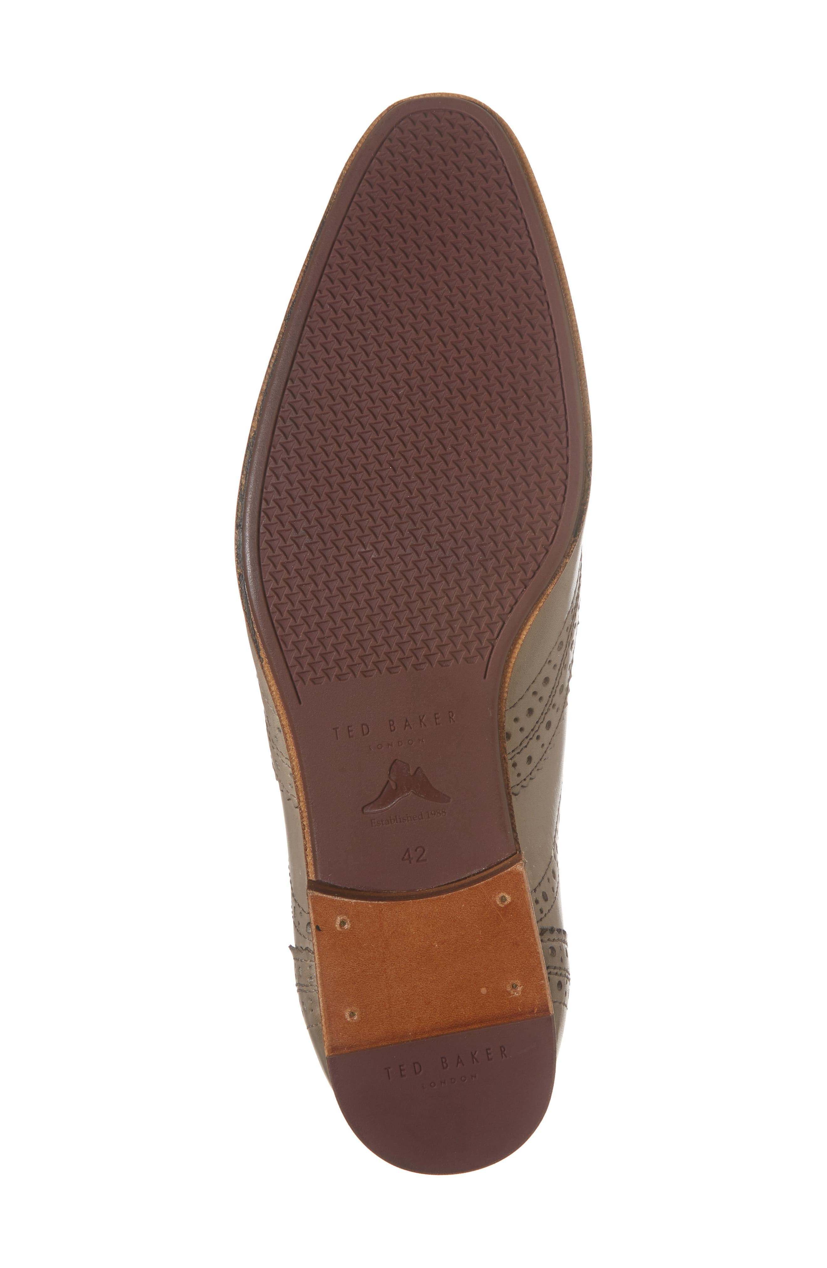Granet Wingtip,                             Alternate thumbnail 6, color,                             Grey Leather