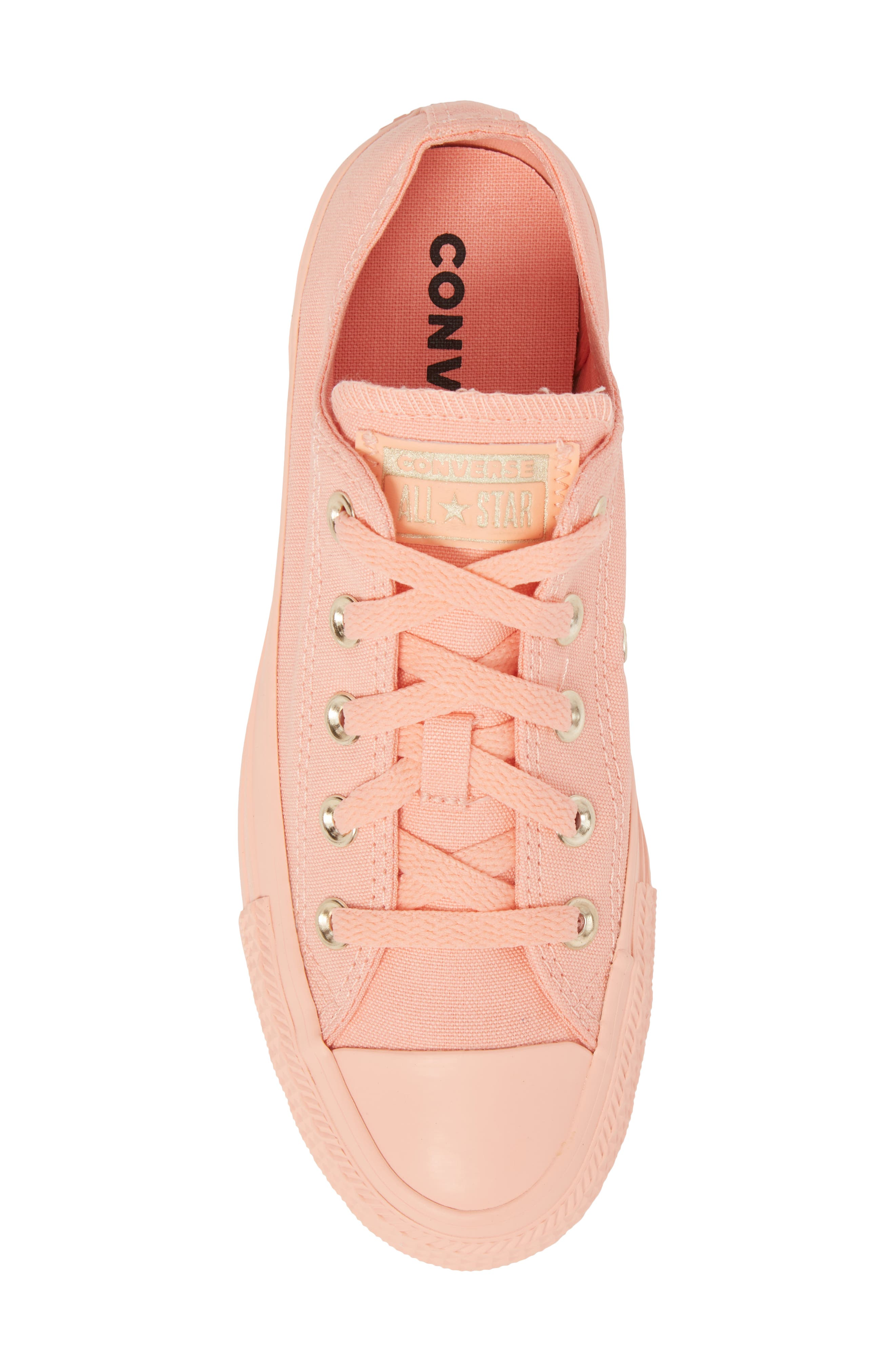 Chuck Taylor<sup>®</sup> All Star<sup>®</sup> Seasonal Color Sneaker,                             Alternate thumbnail 5, color,                             Pale Coral